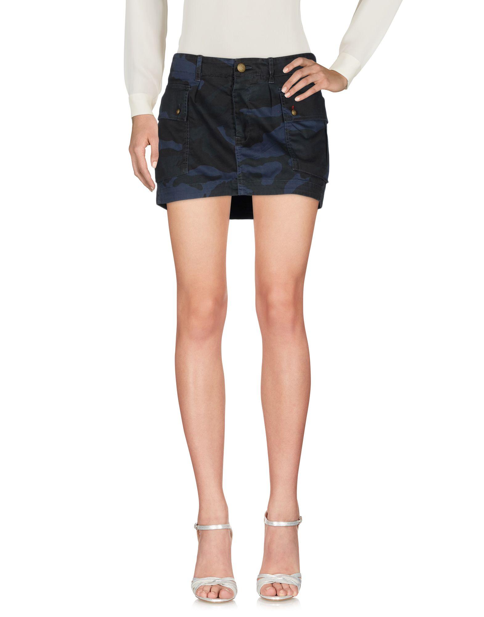 MONOCROM Мини-юбка monocrom юбка до колена