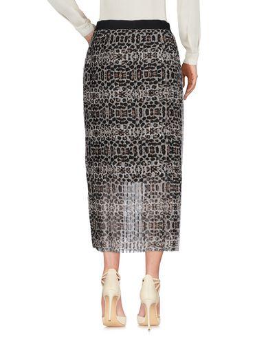 ONLY Damen Midirock Grau Größe 36 100% Polyester