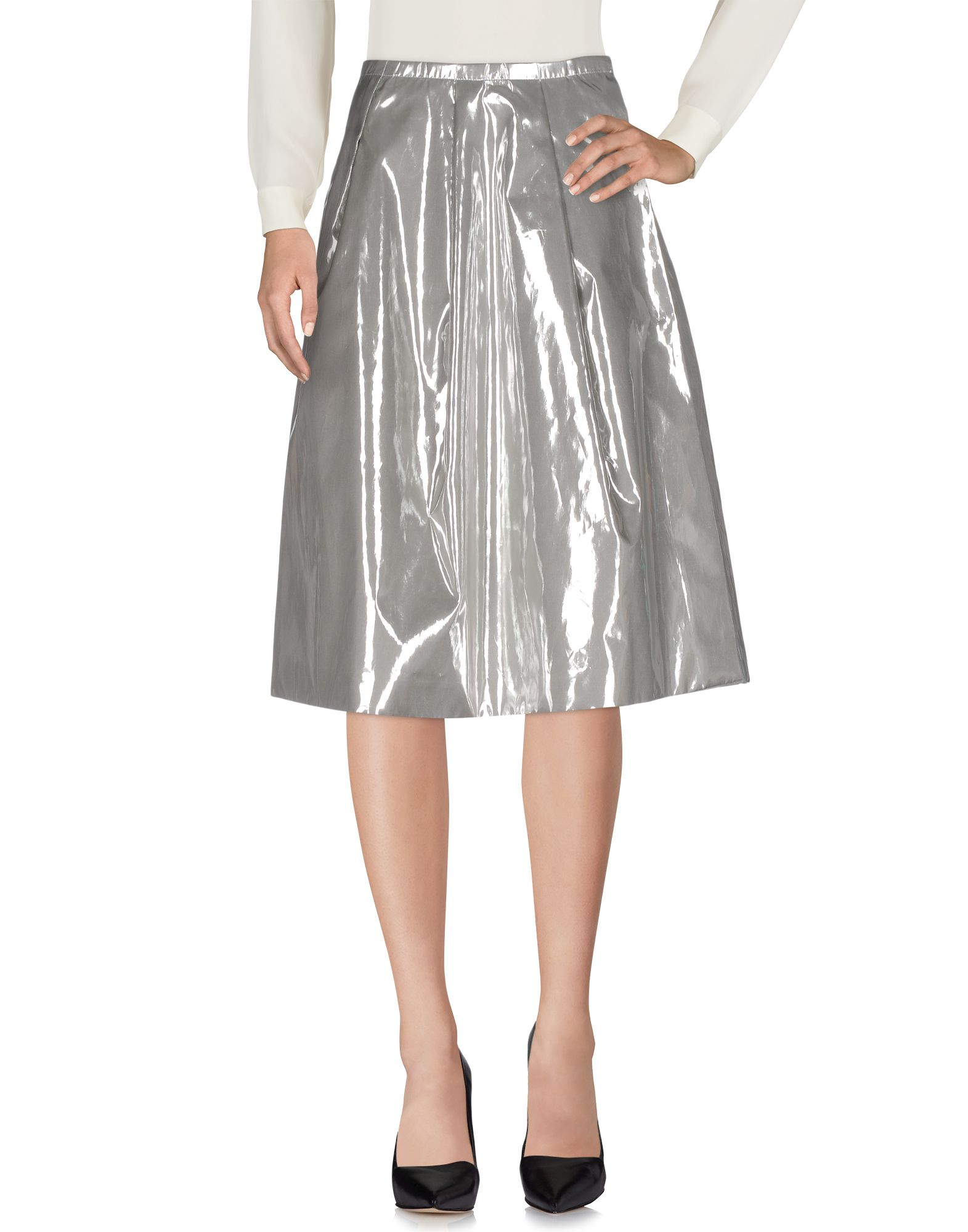 ARTHUR ARBESSER Midi Skirts in Silver