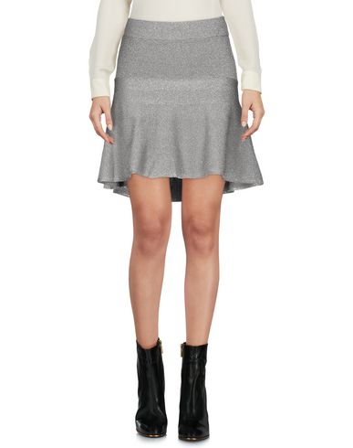 Фото - Мини-юбка серебристого цвета