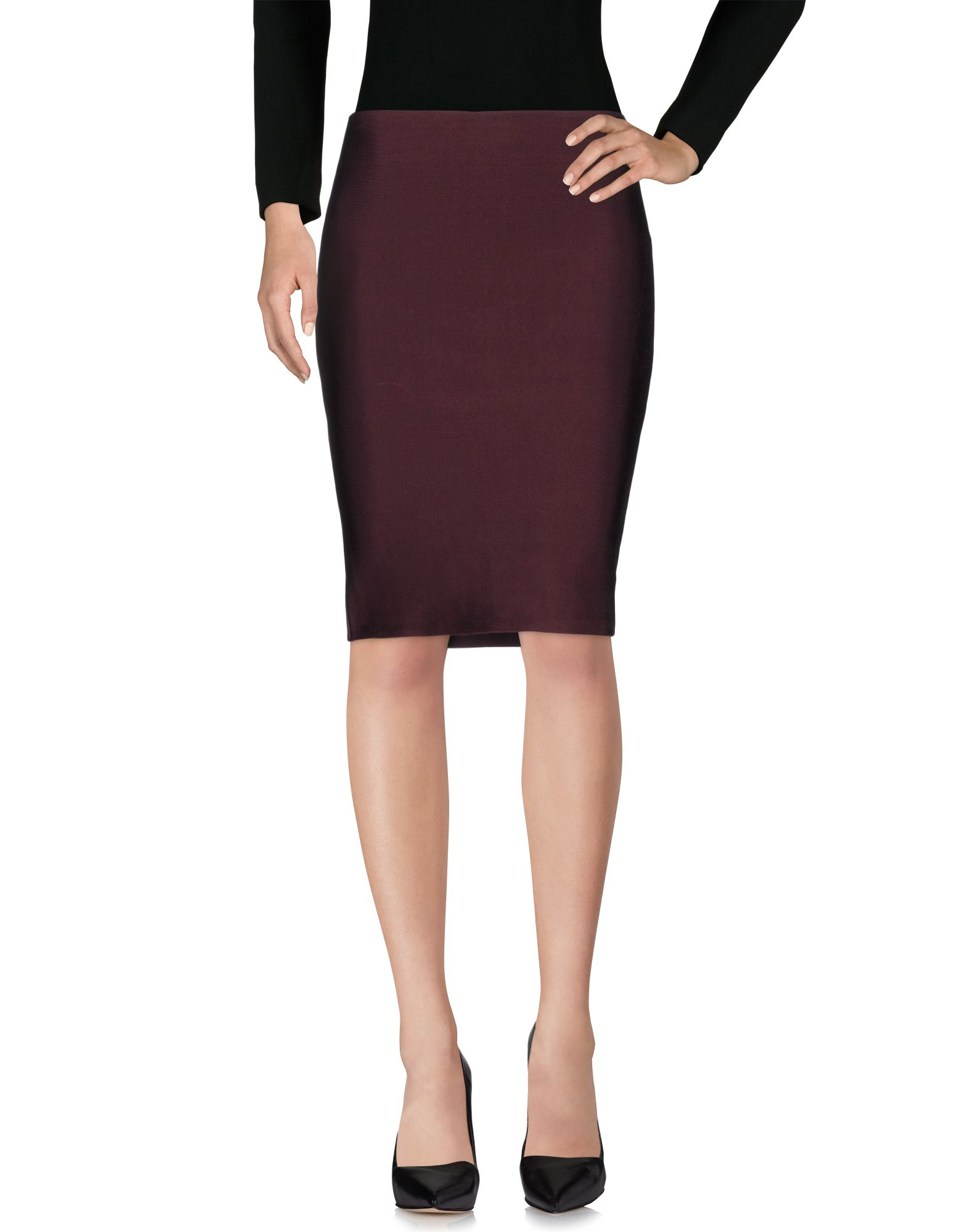 WOW COUTURE Knee Length Skirt in Deep Purple