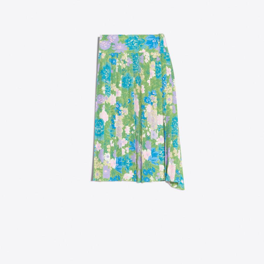 BALENCIAGA Tubular Pleated Skirt Skirt Woman d