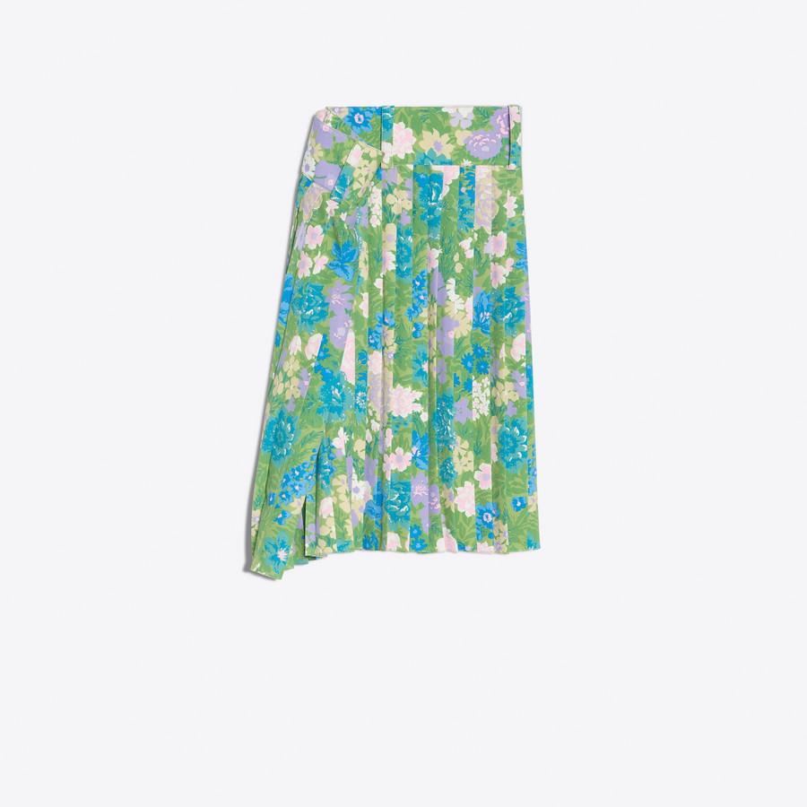 BALENCIAGA Tubular Pleated Skirt Skirt Woman f