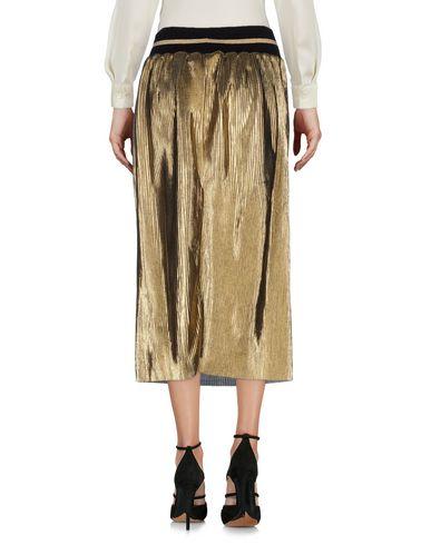 SOUVENIR Damen Midirock Platin Größe S 100% Polyester