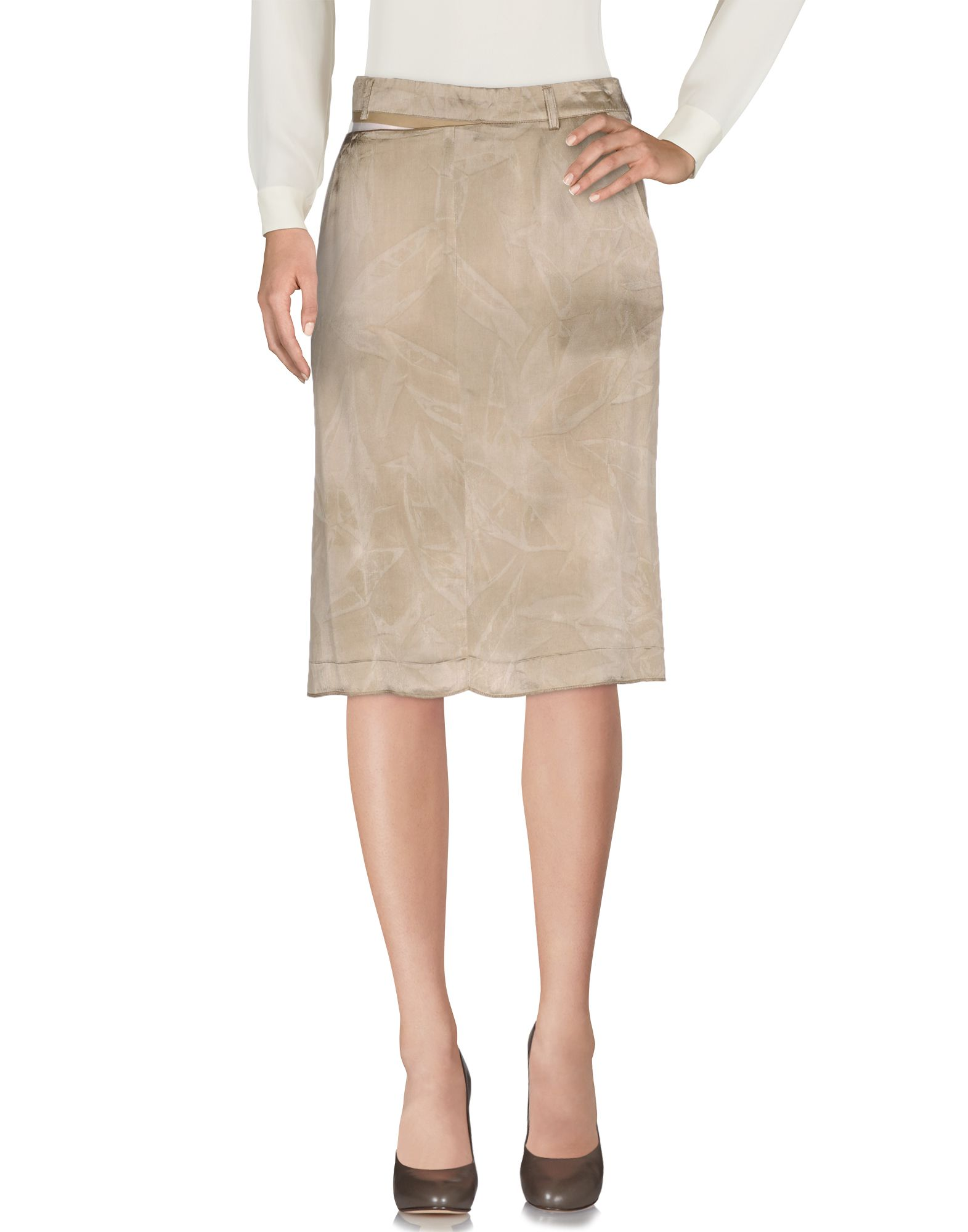 MAISON MARGIELA Damen Knielanger Rock Farbe Khaki Größe 4