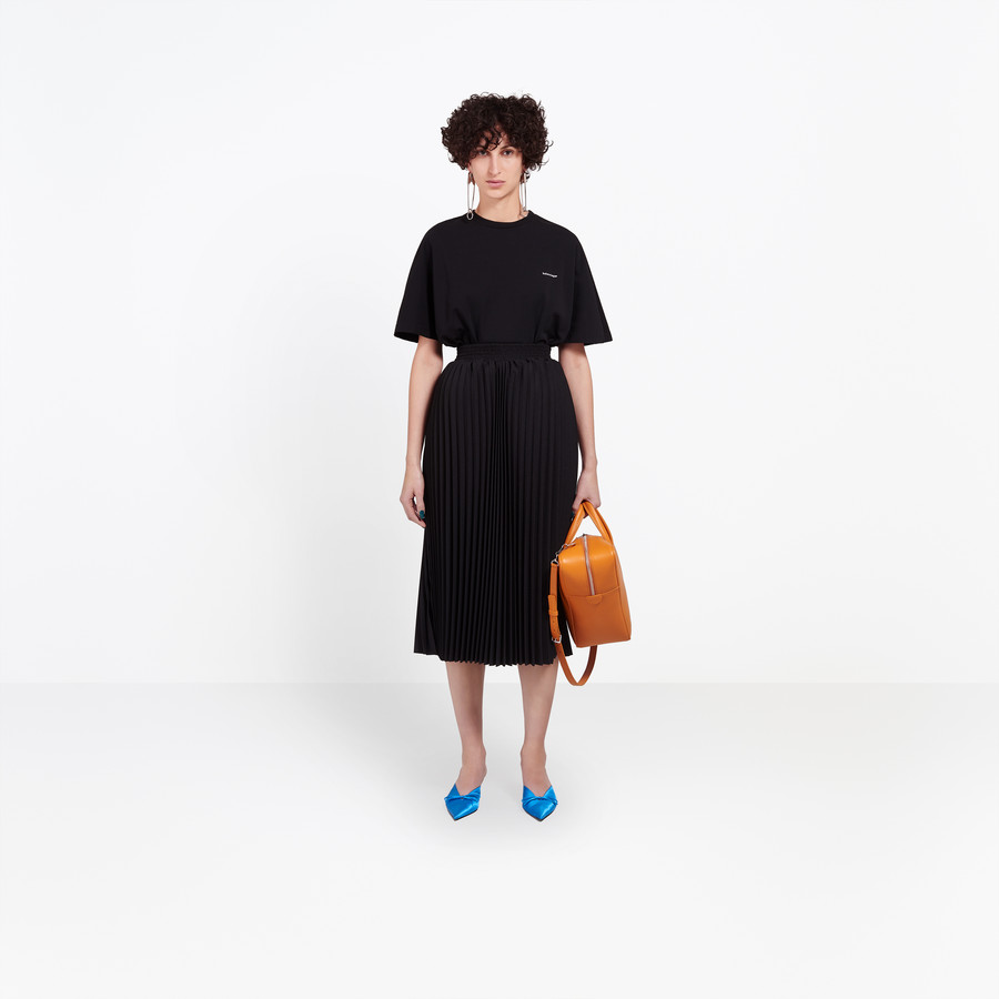 BALENCIAGA Hourglass Pleated Skirt Skirt Woman f