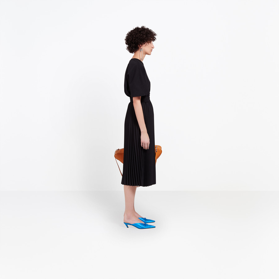 BALENCIAGA Hourglass Pleated Skirt Skirt D i