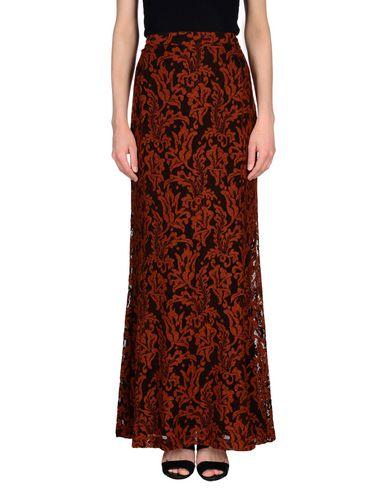Фото - Длинная юбка коричневого цвета