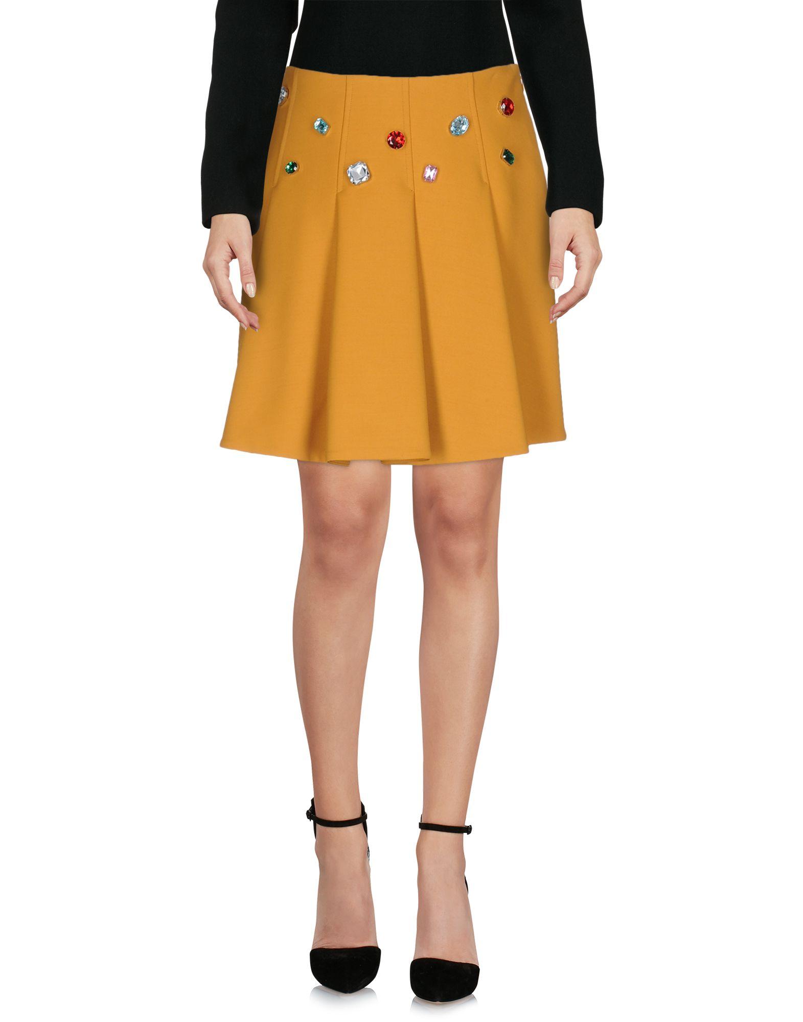 VIVETTA Damen Knielanger Rock Farbe Orange Größe 3