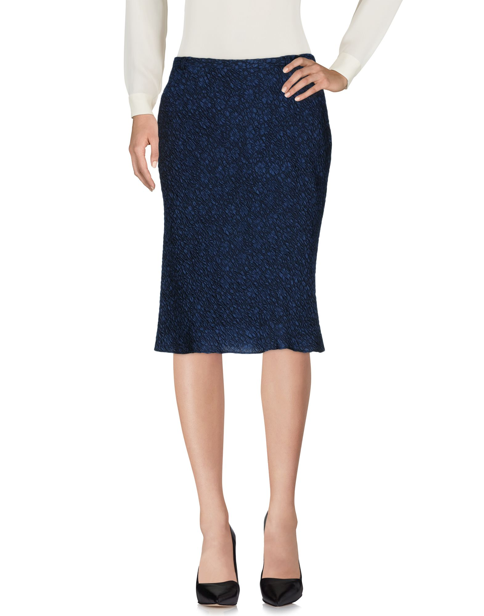 ASPESI Damen Knielanger Rock Farbe Blau Größe 5