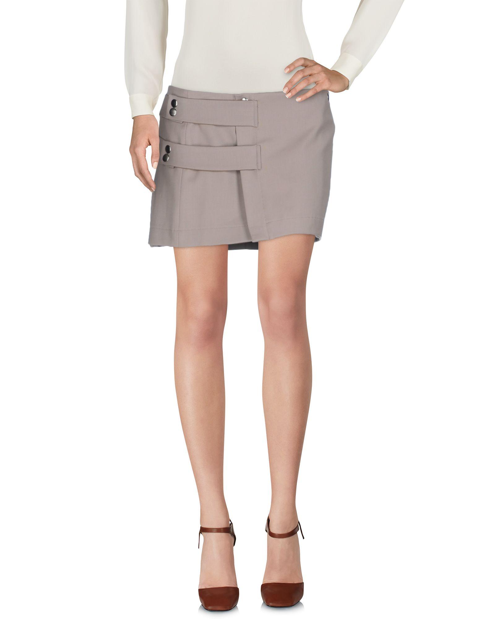 DONDUP Damen Minirock Farbe Khaki Größe 4