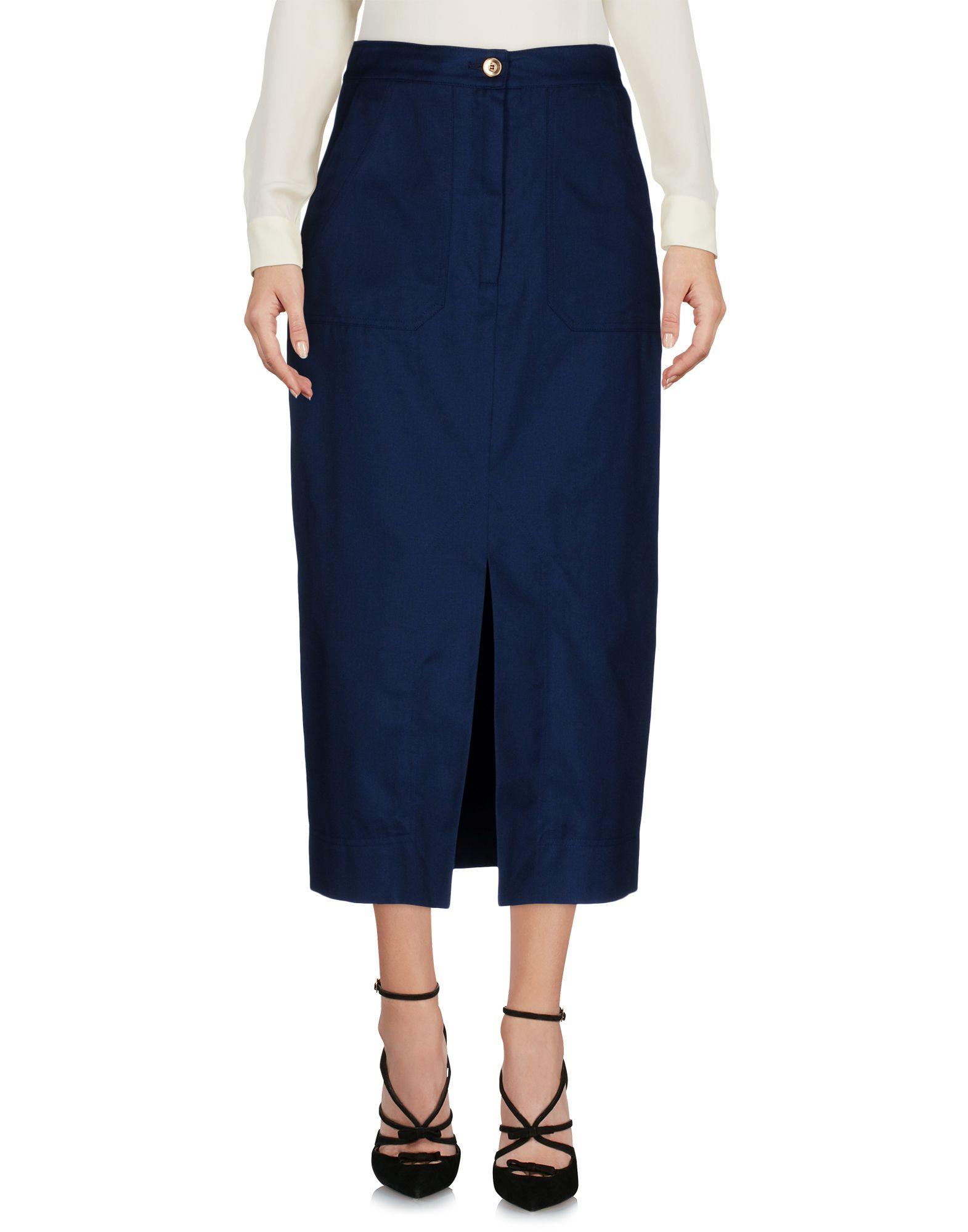J.WON Midi Skirts in Dark Blue