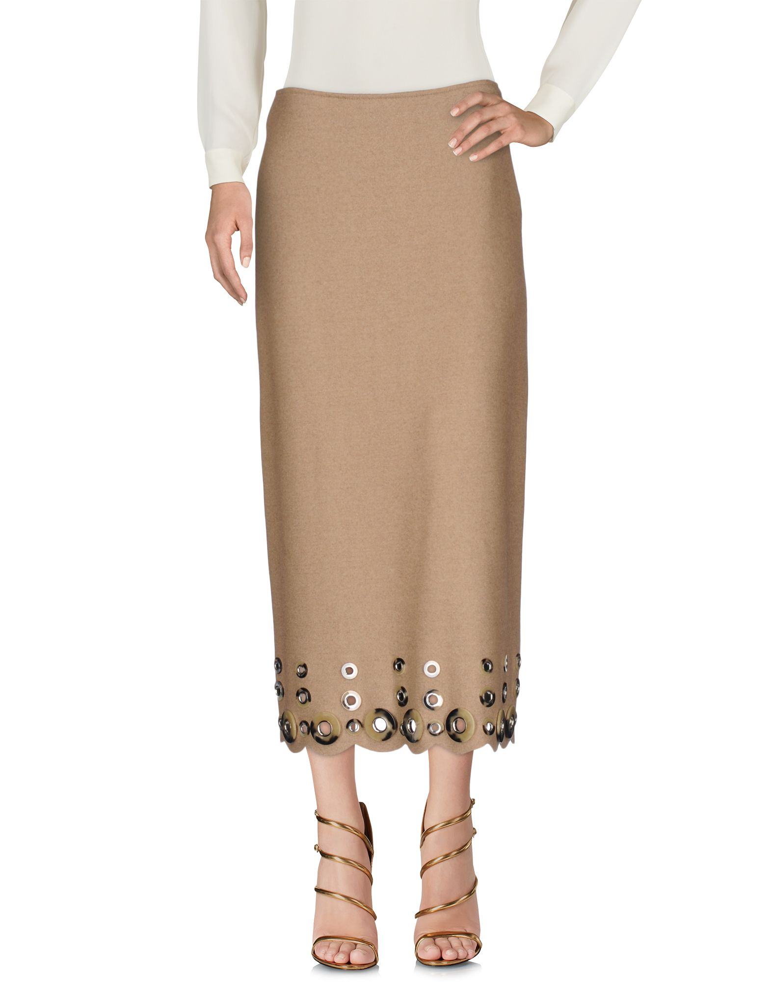 цена MAURIZIO PECORARO Длинная юбка онлайн в 2017 году