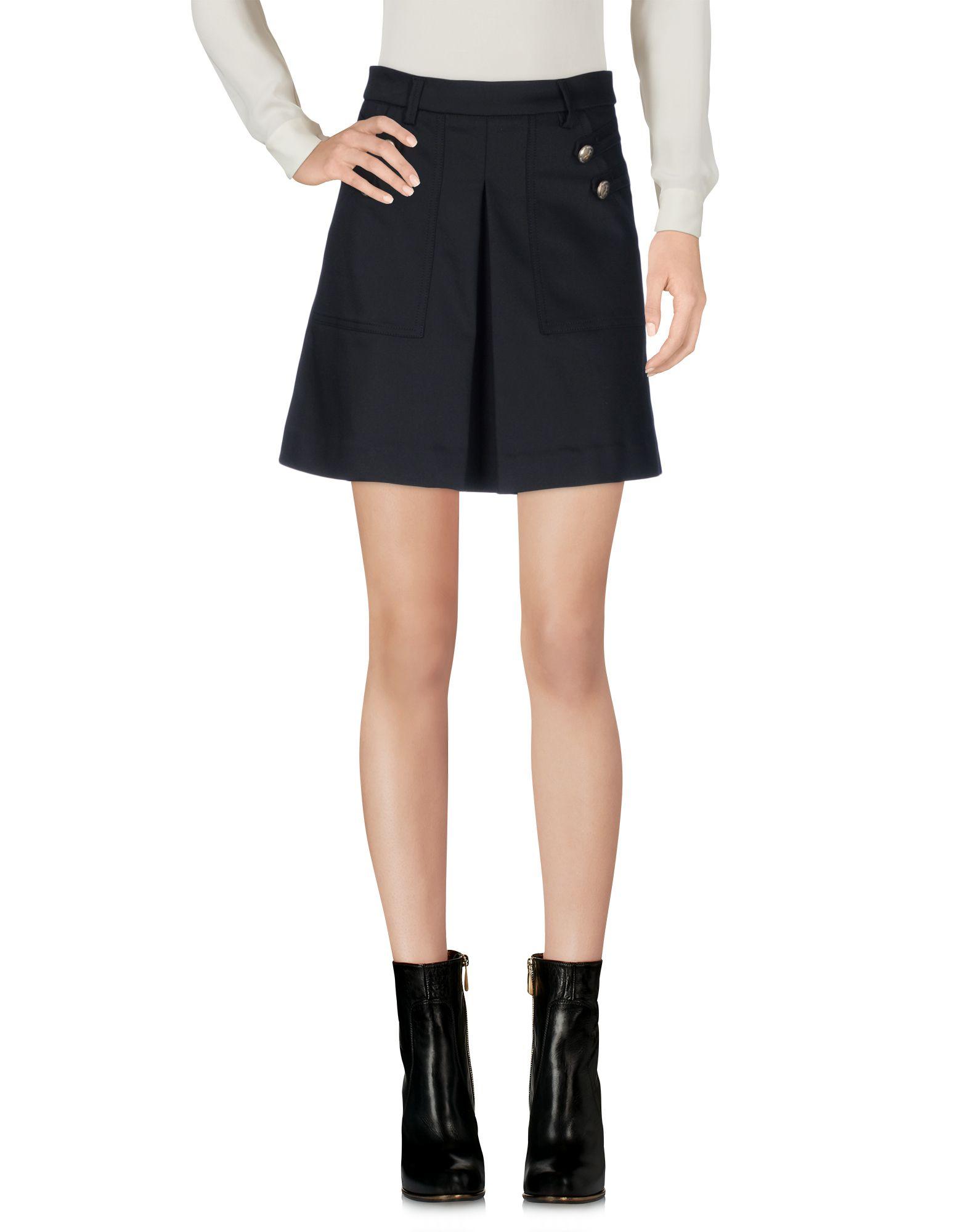 PATRIZIA PEPE Damen Minirock Farbe Schwarz Größe 6