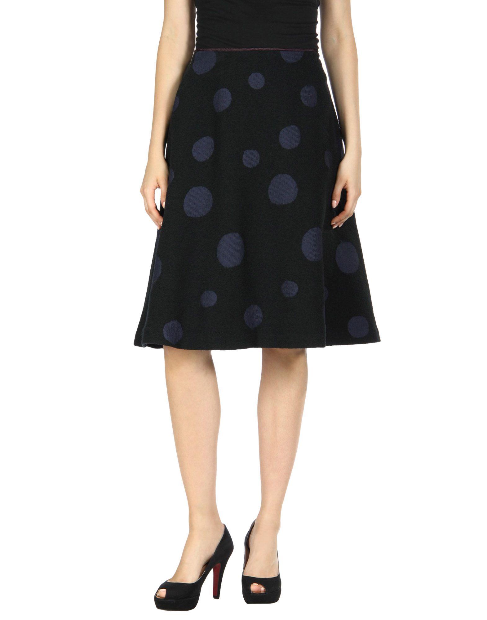 MINÄ PERHONEN Midi Skirts in Black