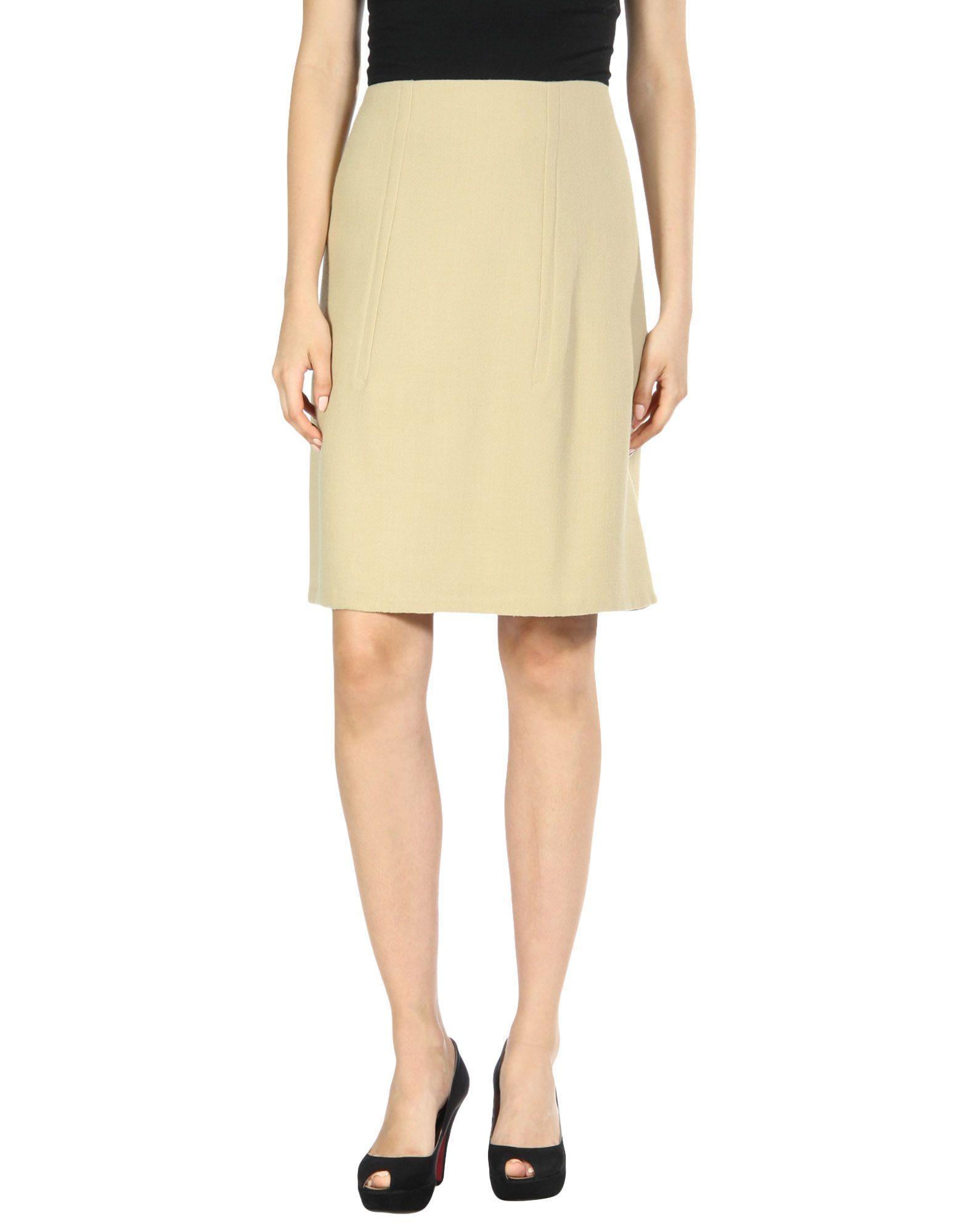 VERONIQUE LEROY Knee Length Skirts in Beige