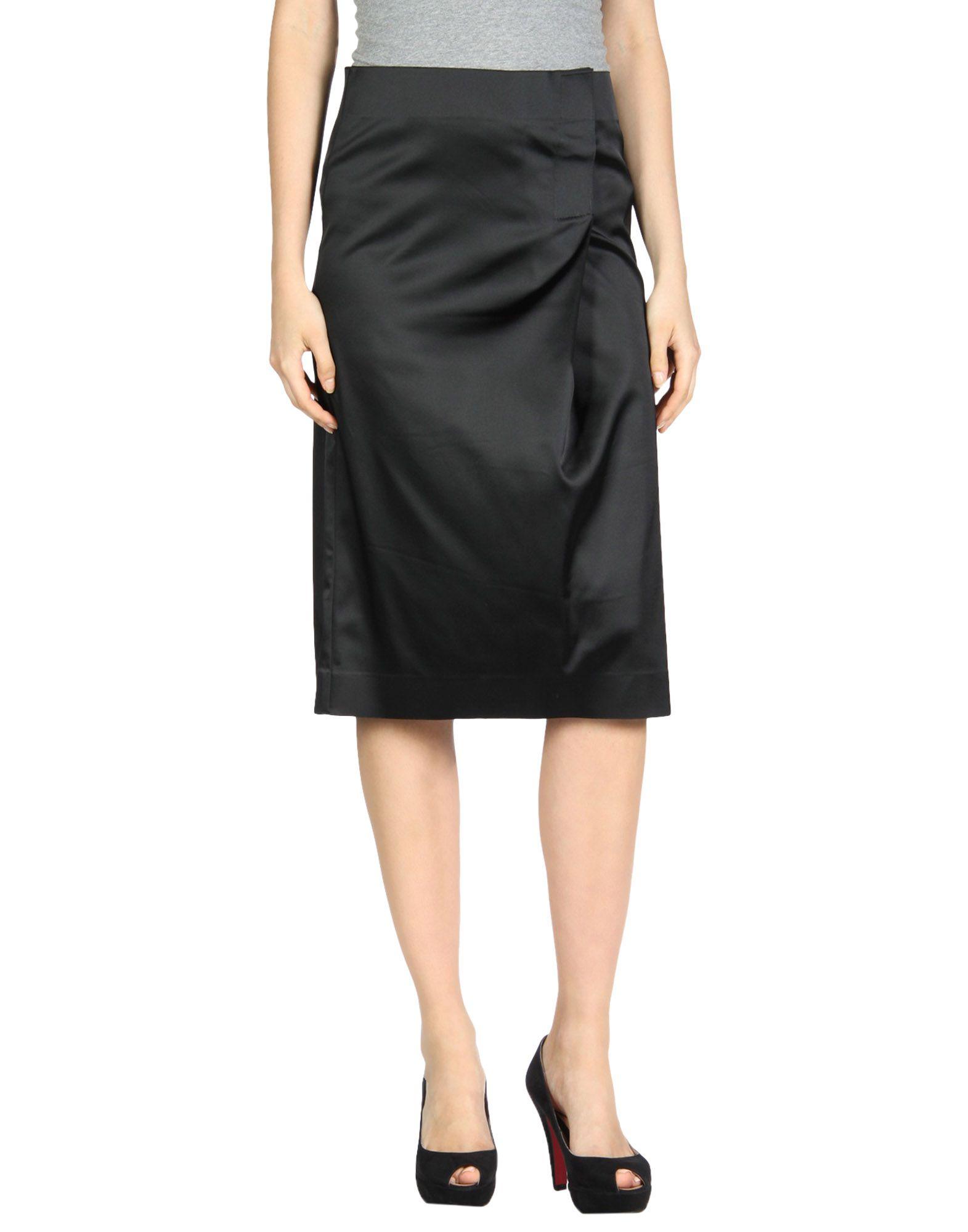 BACK Knee Length Skirts in Black
