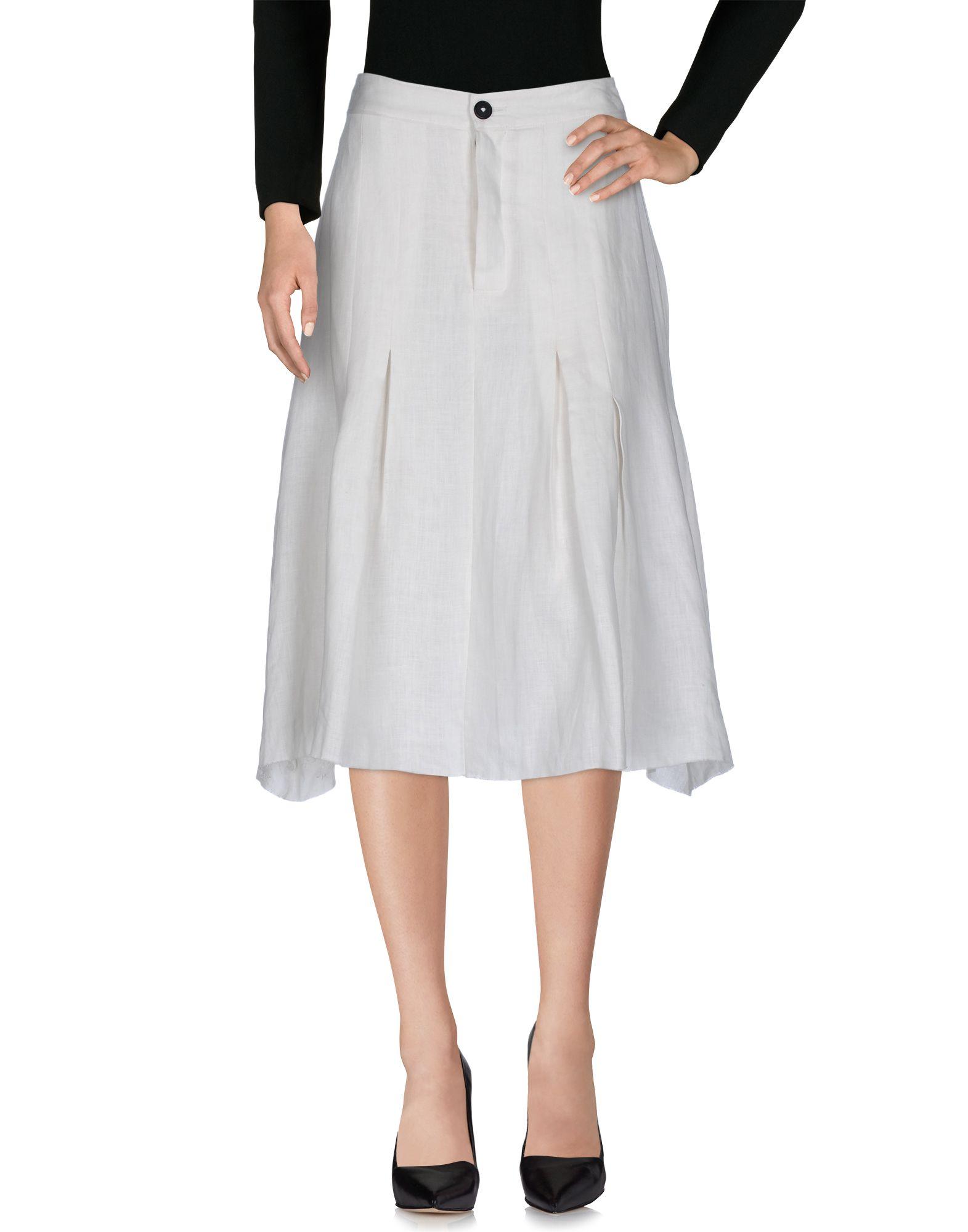 A TENTATIVE ATELIER Damen Midirock Farbe Weiß Größe 4