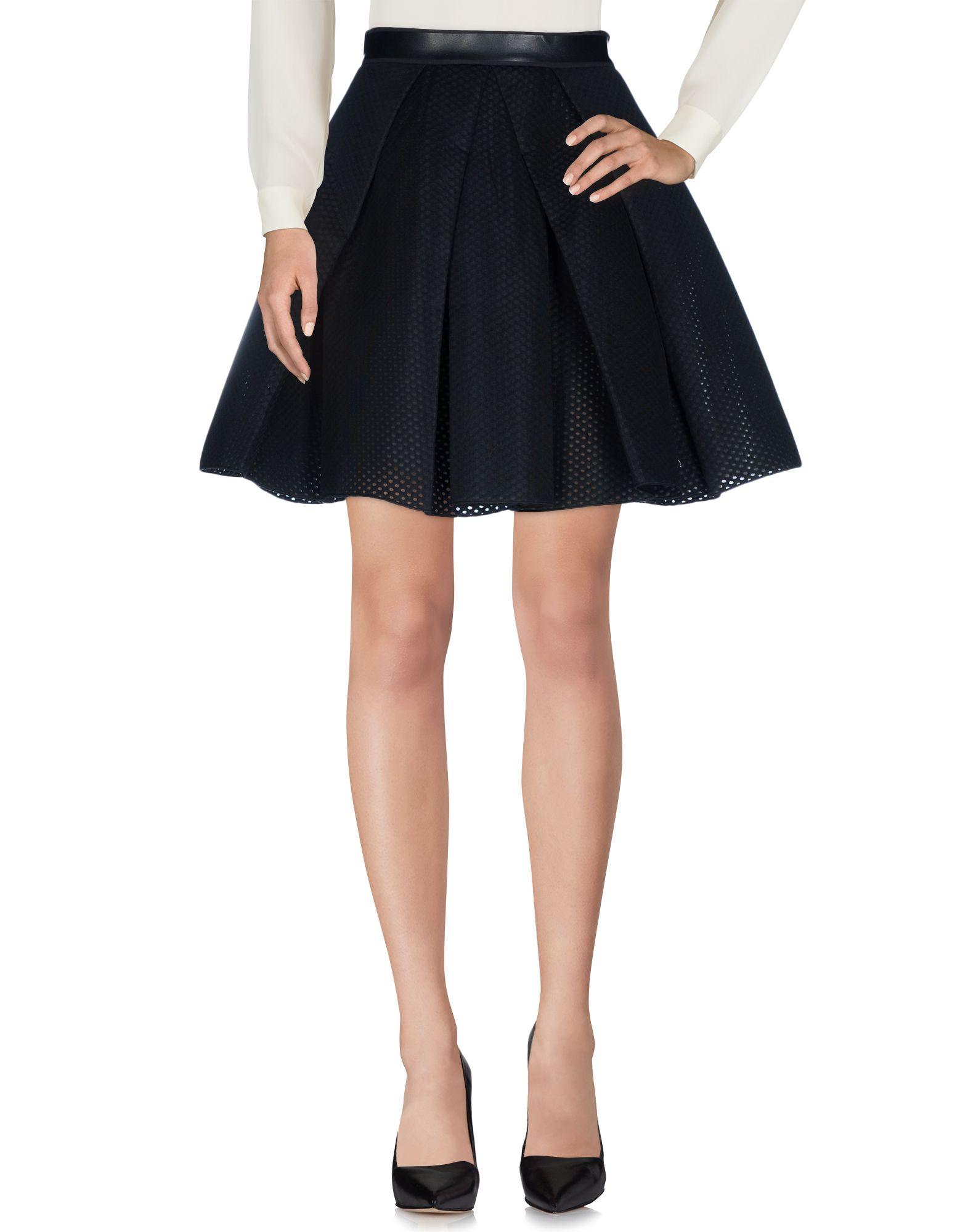 MANUEL FACCHINI Knee Length Skirts in Black