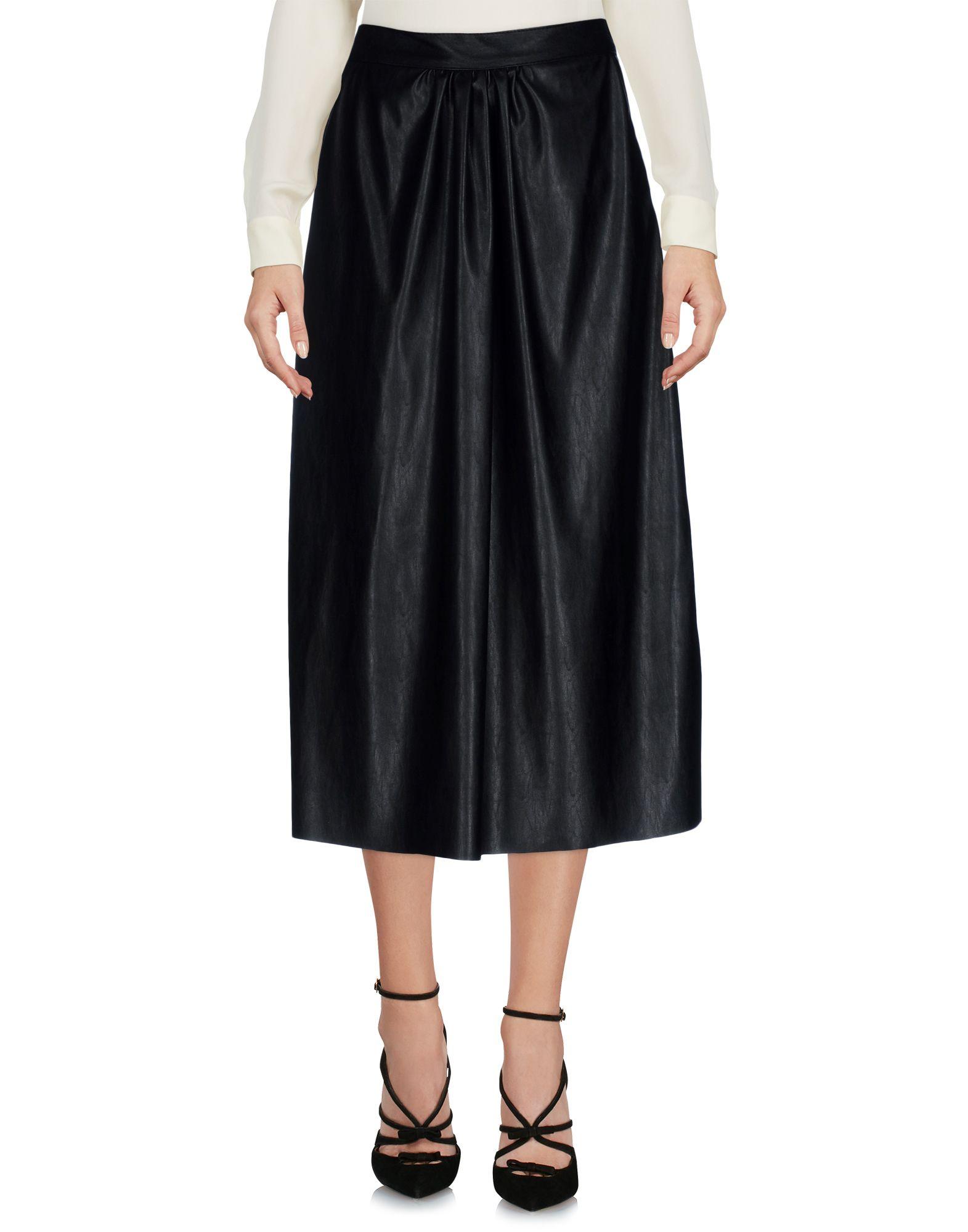 《送料無料》KAOS レディース 7分丈スカート ブラック 40 ポリウレタン 100%