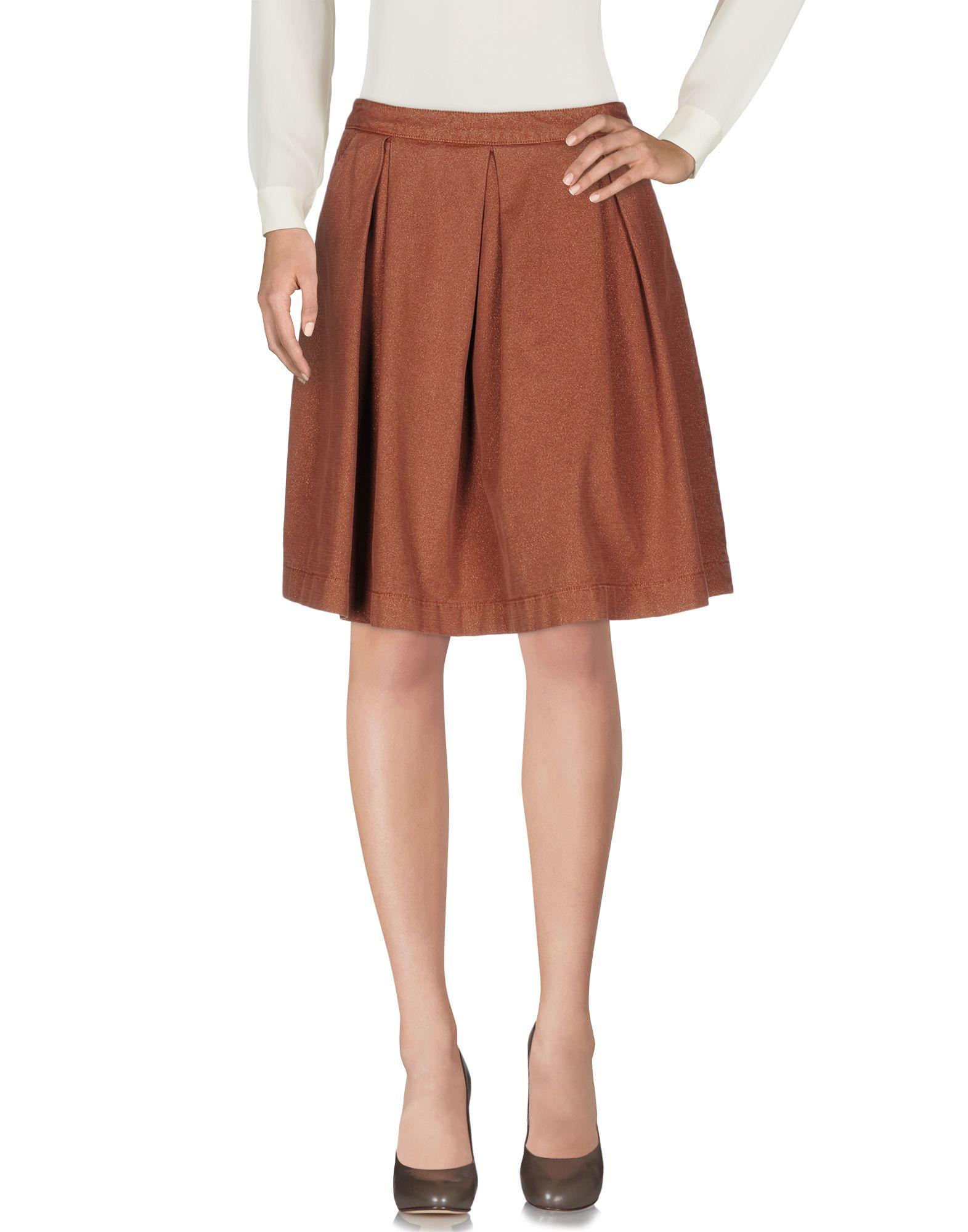《送料無料》MONOCROM レディース ひざ丈スカート カーキ 42 92% コットン 5% ポリエステル 3% ポリウレタン