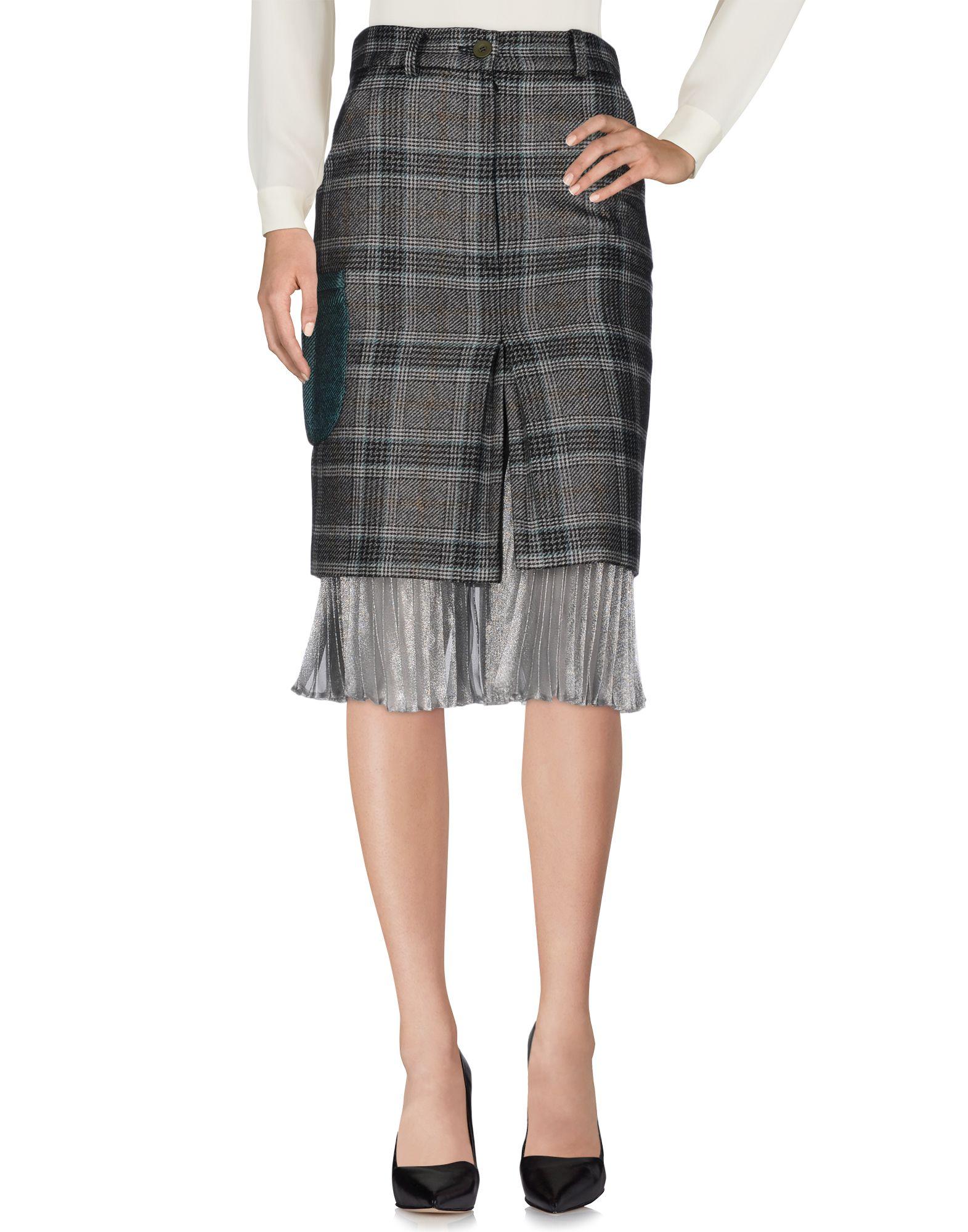 DAIZY SHELY Midi Skirts in Grey