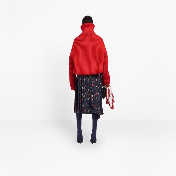 BALENCIAGA Skirt Woman Tubular Pleated Skirt h