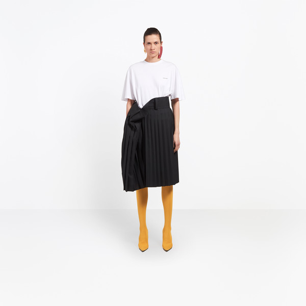 Tubular Pleated Skirt