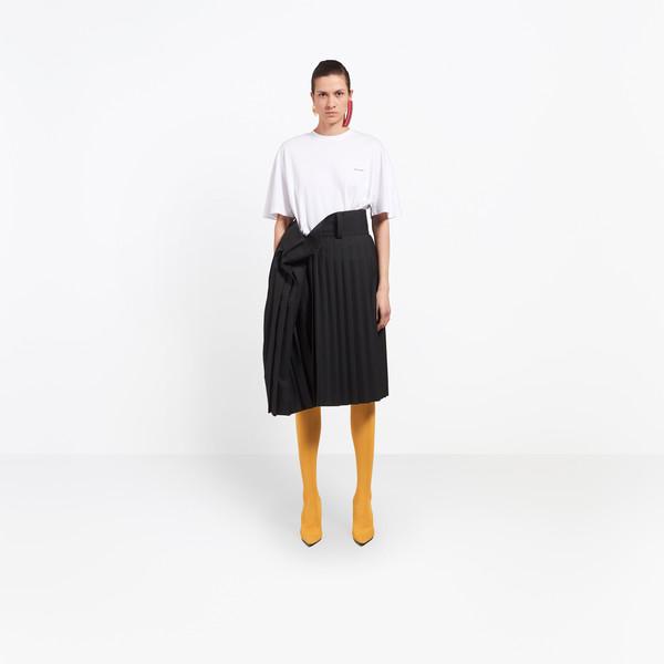 BALENCIAGA Skirt D Tubular Pleated Skirt g