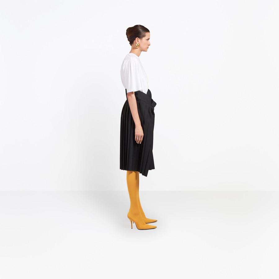 BALENCIAGA Tubular Pleated Skirt Skirt D i