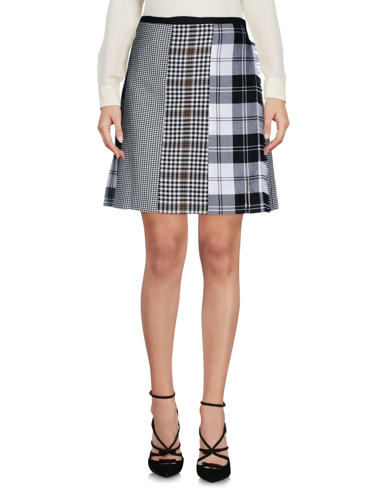 LE KILT Knee Length Skirt in Black