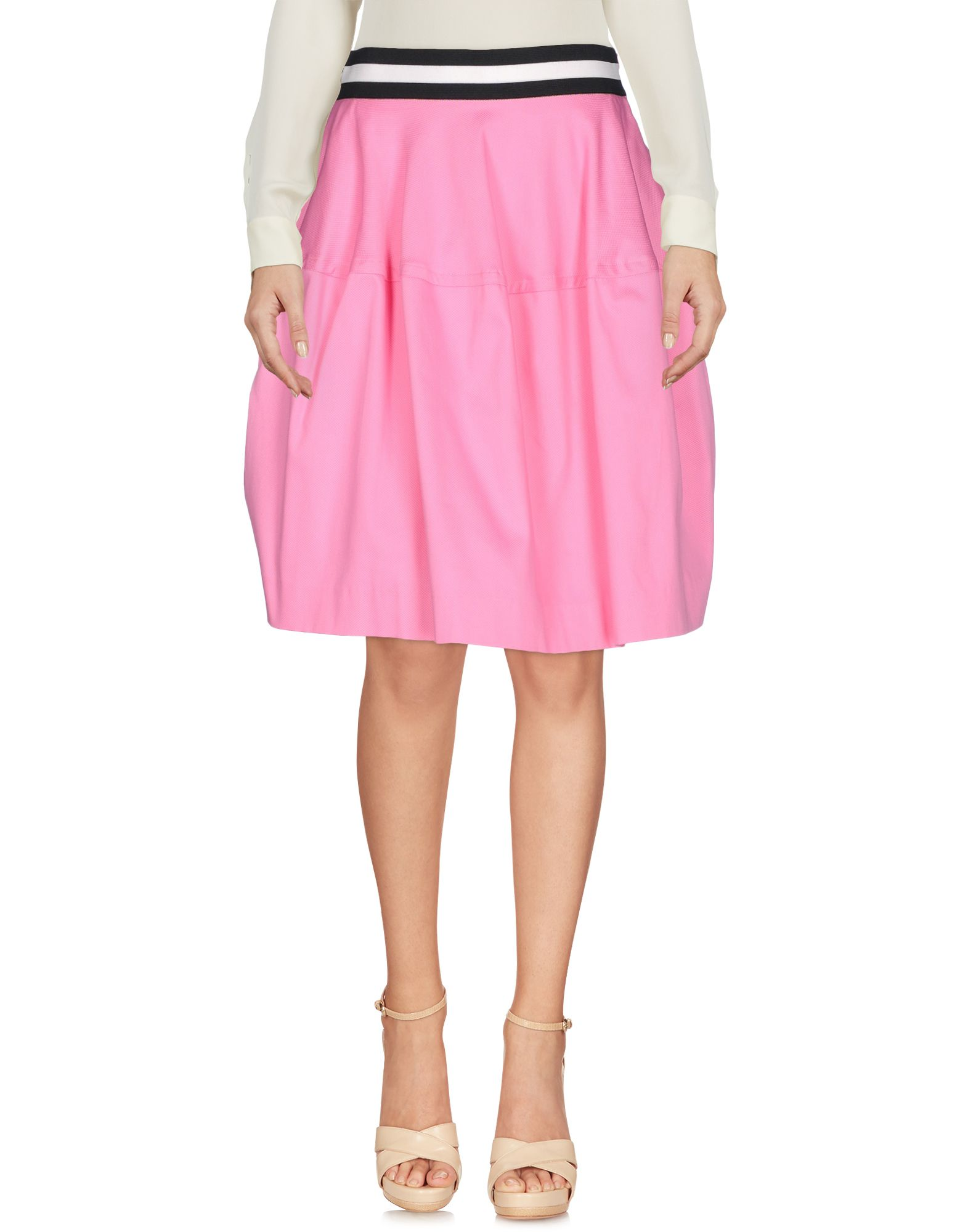 P.A.R.O.S.H. Damen Knielanger Rock Farbe Rosa Größe 4 jetztbilligerkaufen