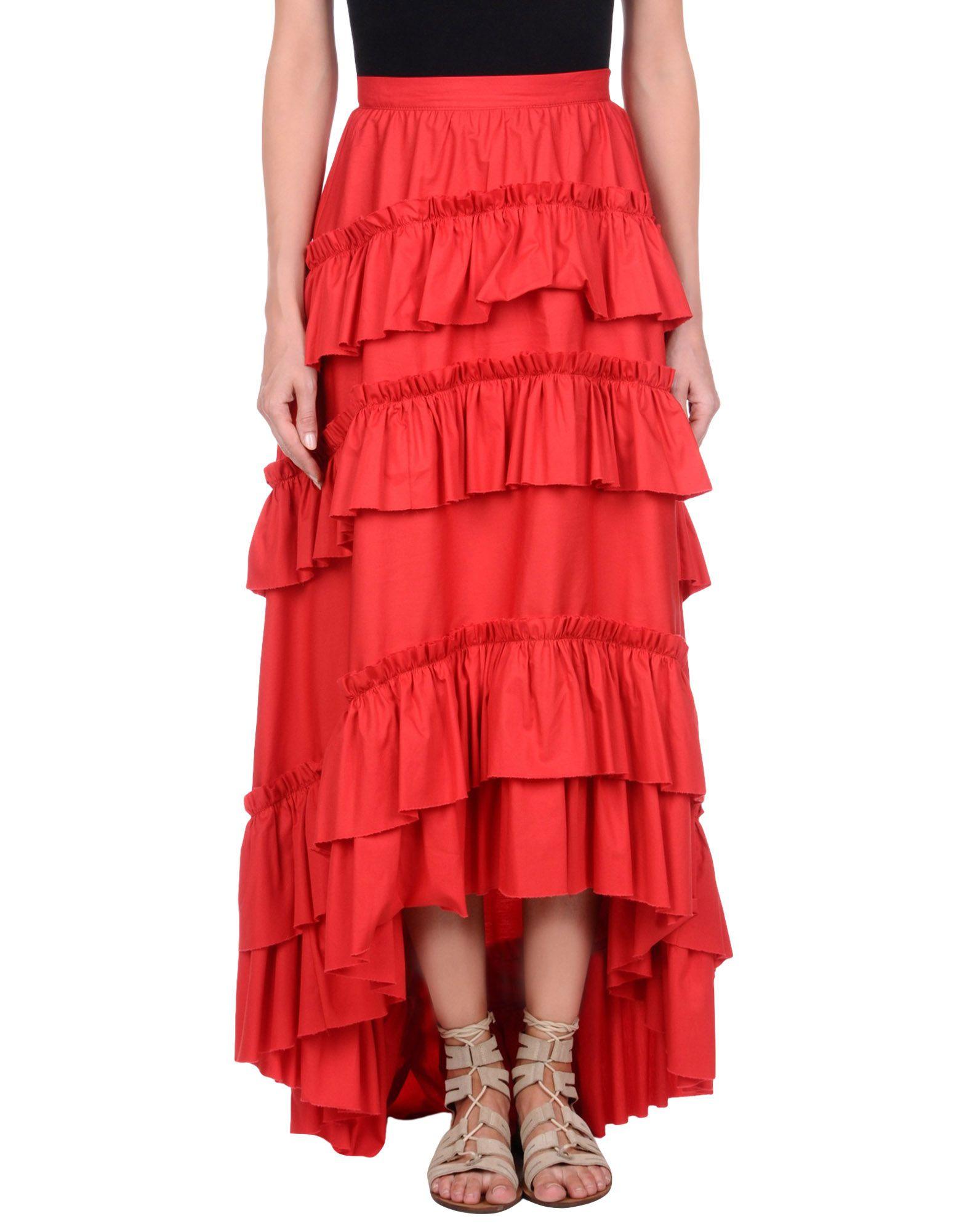 PHILOSOPHY di LORENZO SERAFINI Damen Midirock Farbe Rot Größe 5 jetztbilligerkaufen