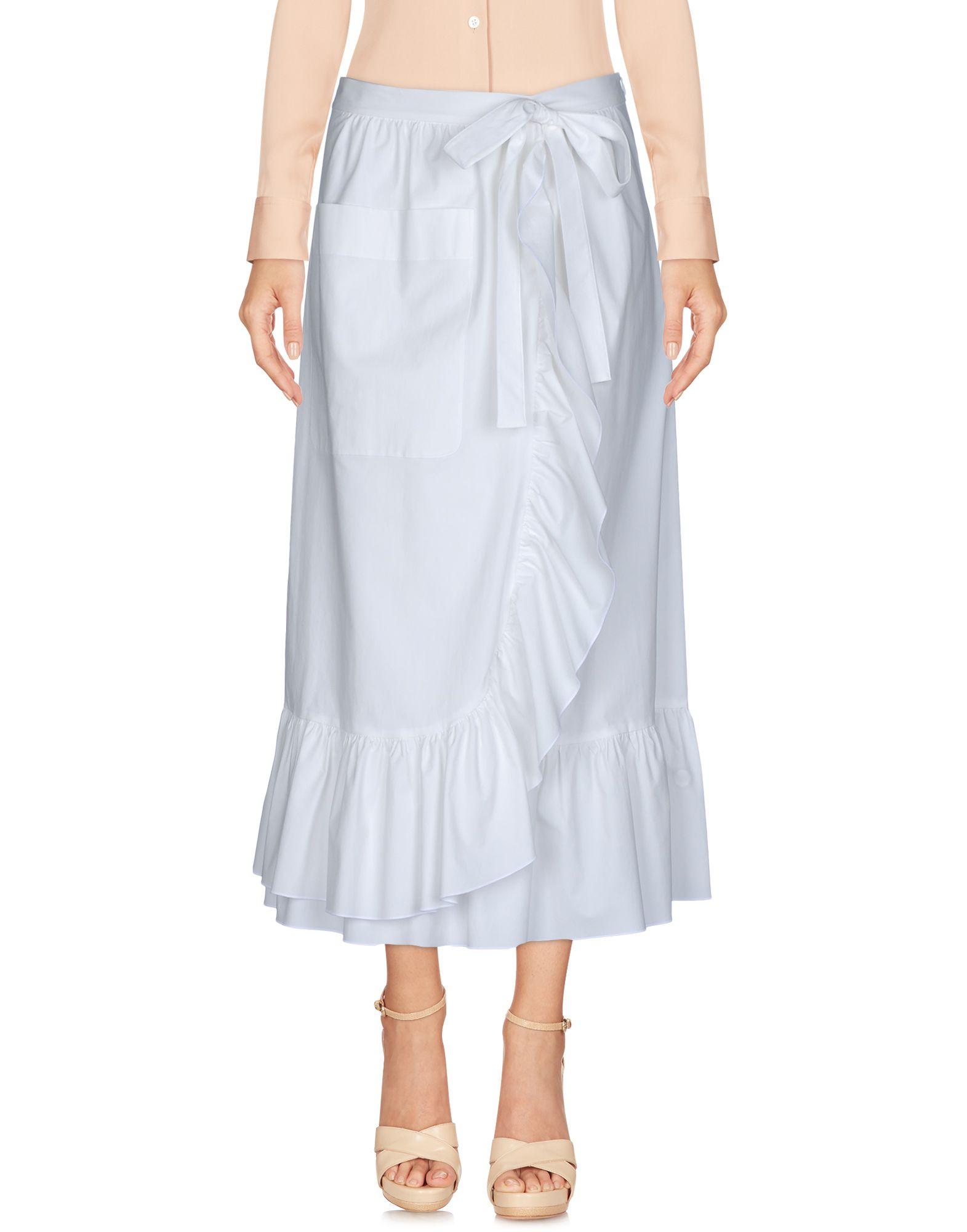 BOUTIQUE MOSCHINO Damen Midirock Farbe Weiß Größe 5 jetztbilligerkaufen