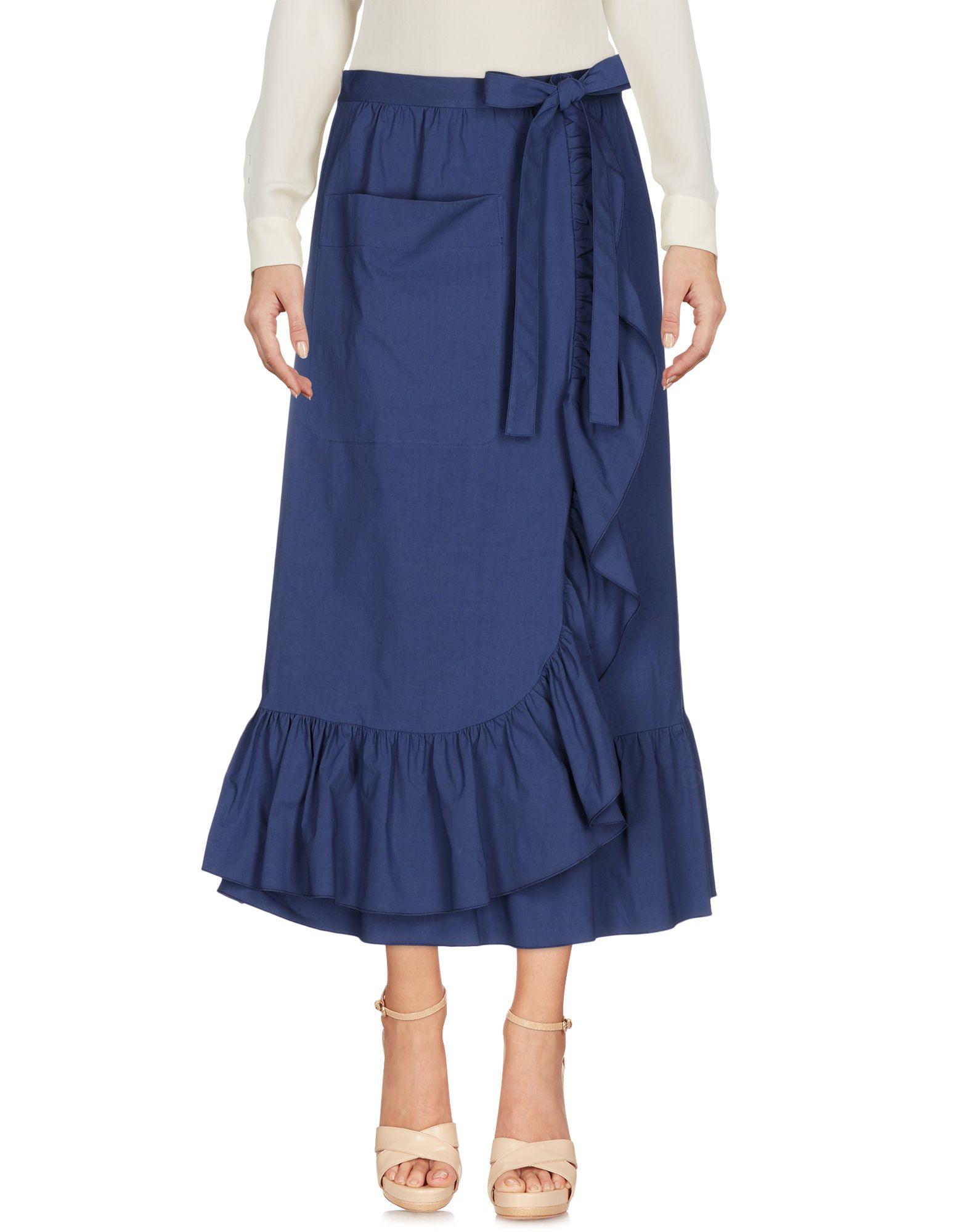 BOUTIQUE MOSCHINO Damen Midirock Farbe Taubenblau Größe 6 jetztbilligerkaufen