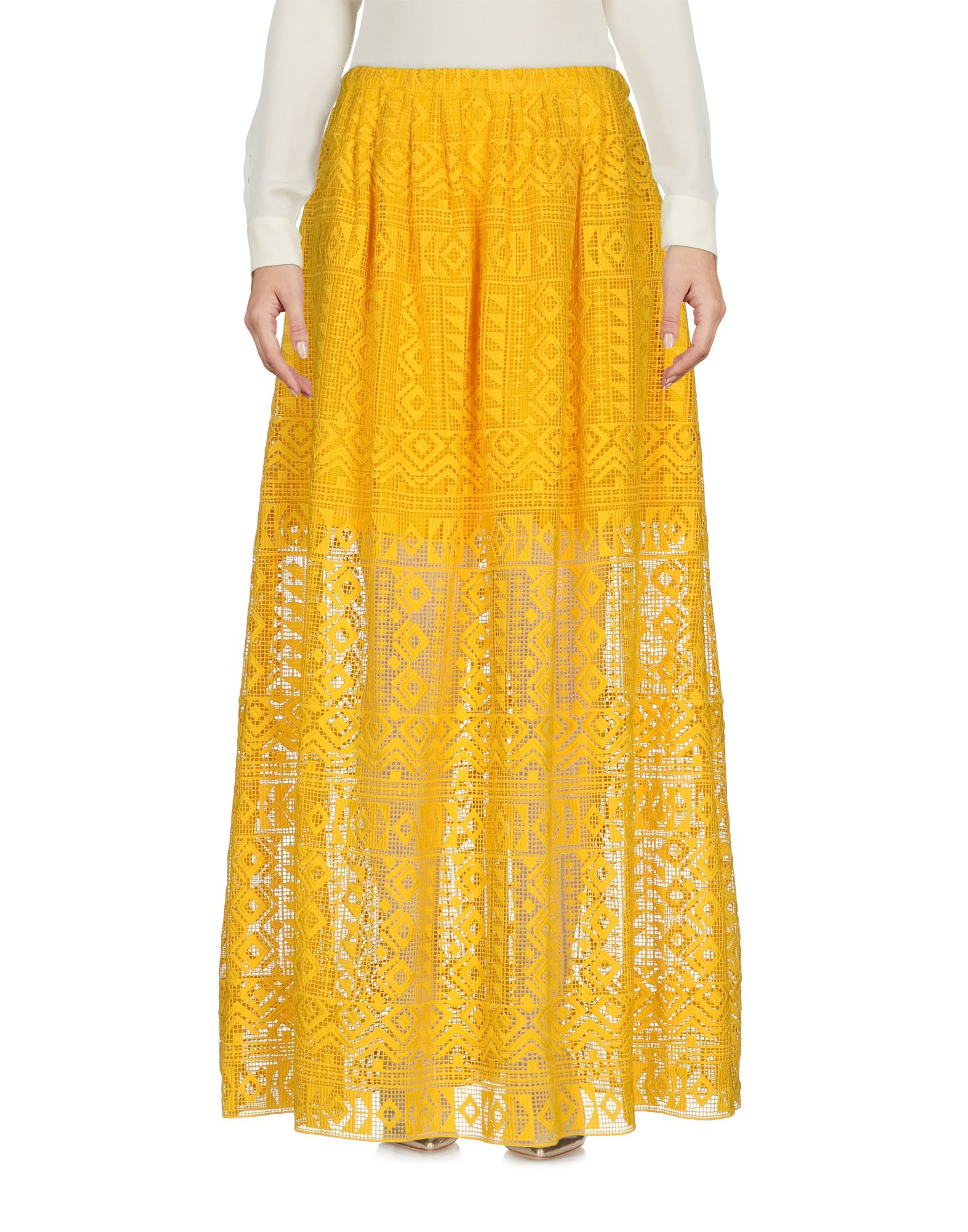 PHILOSOPHY di LORENZO SERAFINI Damen Maxirock Farbe Gelb Größe 5 jetztbilligerkaufen