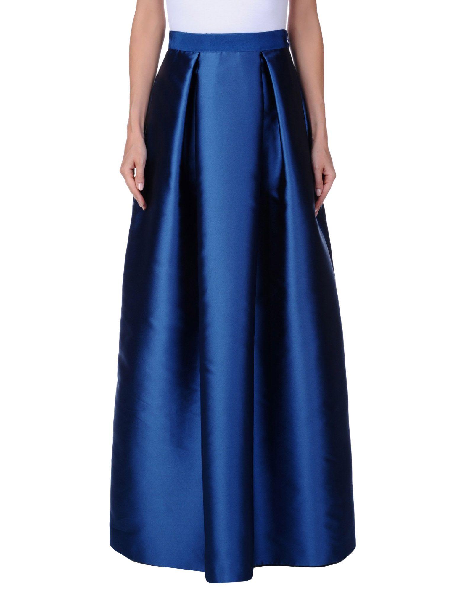 ALBERTA FERRETTI Damen Maxirock Farbe Blau Größe 6 jetztbilligerkaufen