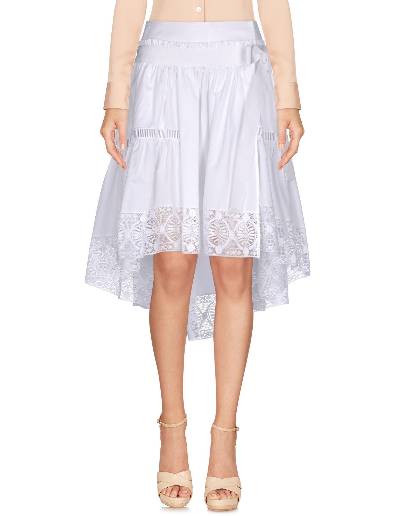 ALBERTA FERRETTI Damen Midirock Farbe Weiß Größe 6 jetztbilligerkaufen