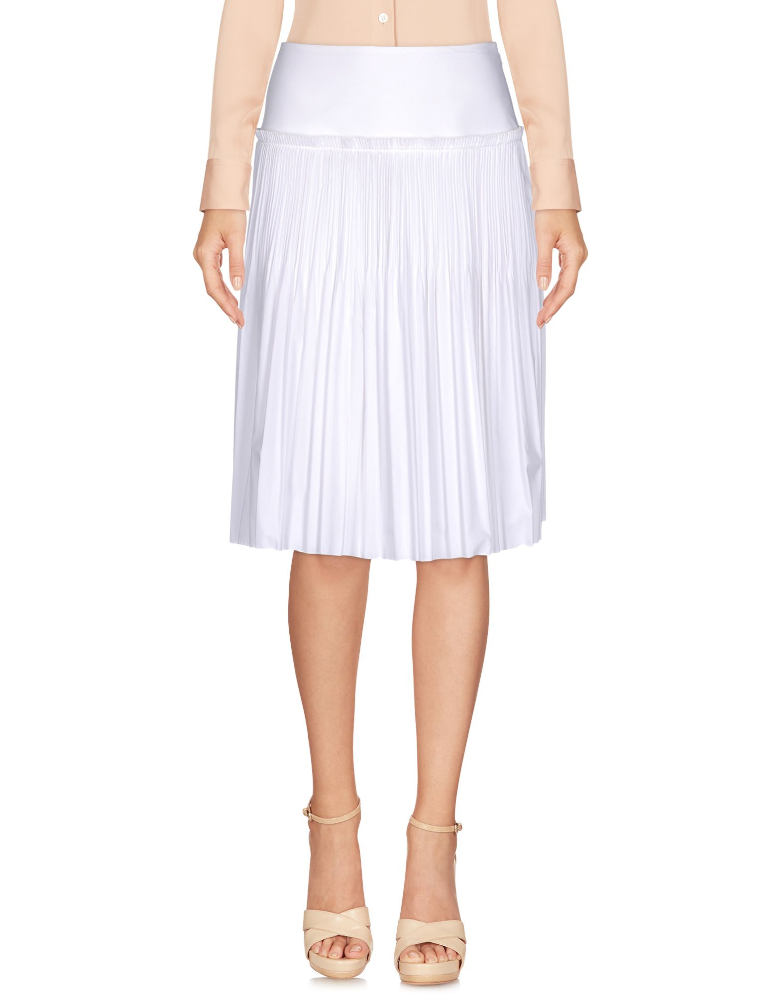 ALBERTA FERRETTI Damen Knielanger Rock Farbe Weiß Größe 6 jetztbilligerkaufen