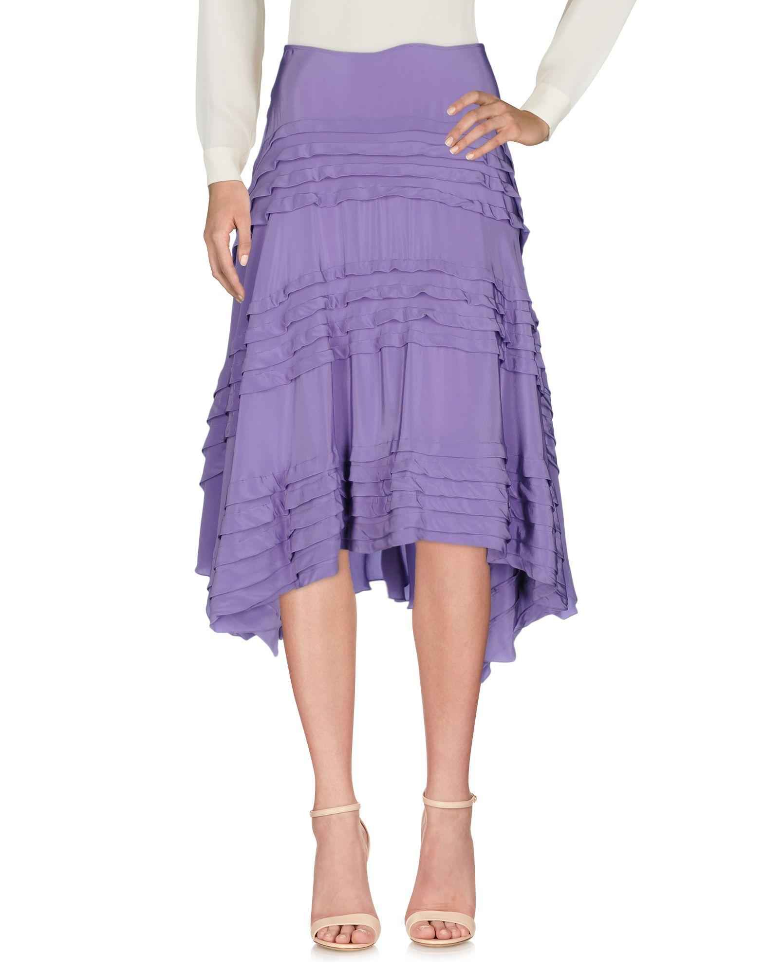 DKNY Damen Midirock Farbe Lila Größe 3 jetztbilligerkaufen