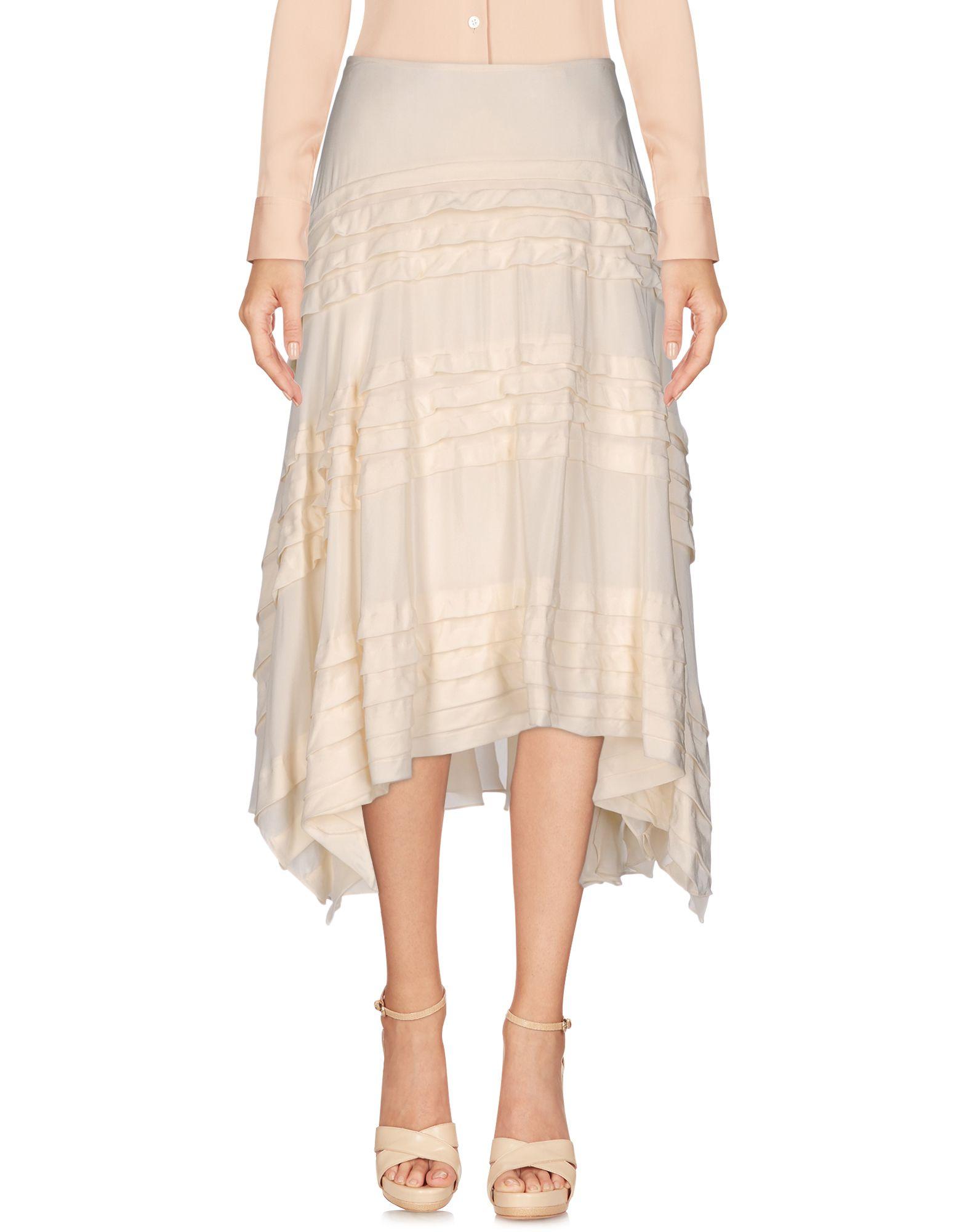 DKNY Damen Midirock Farbe Elfenbein Größe 3 jetztbilligerkaufen