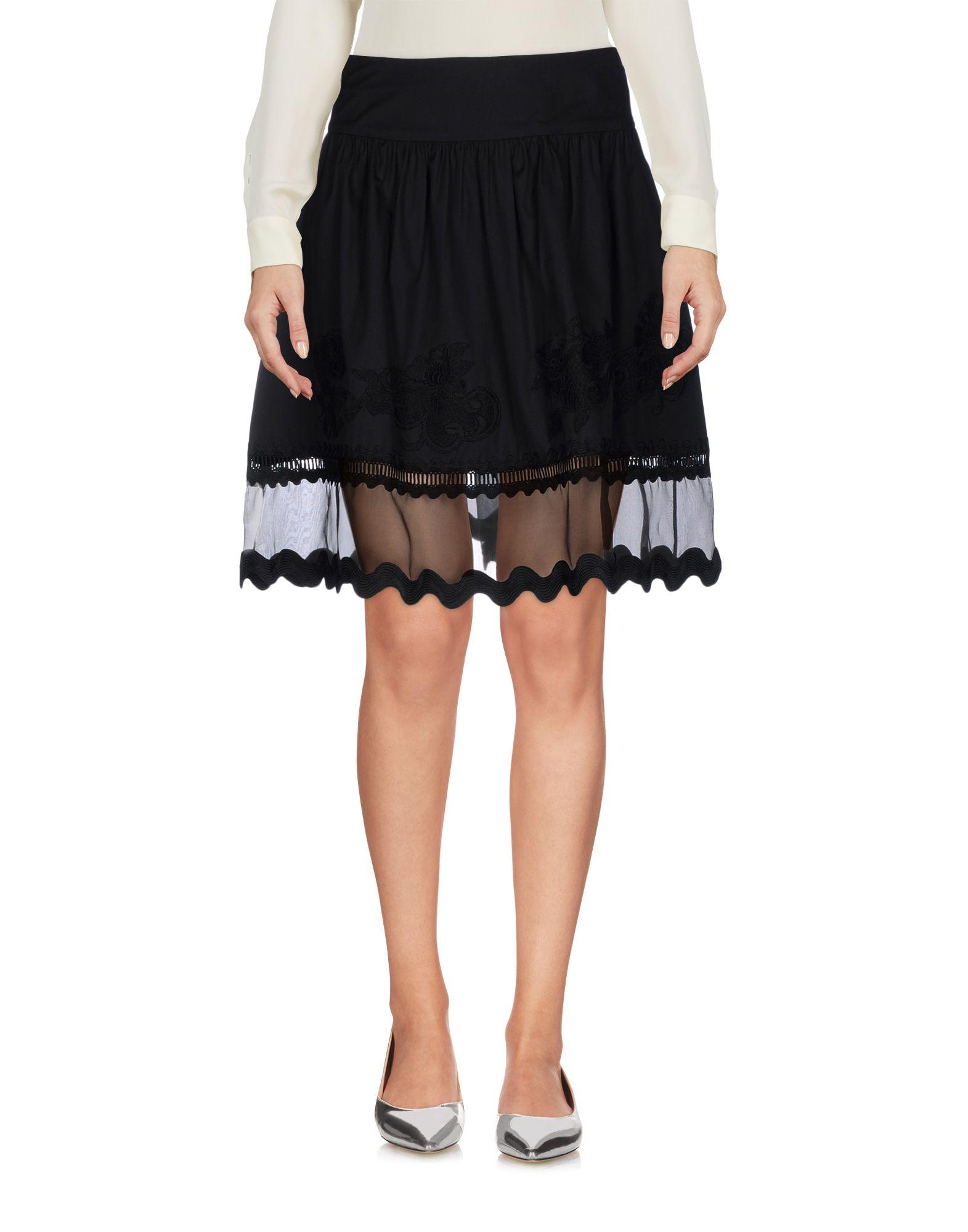 ALBERTA FERRETTI Damen Minirock Farbe Schwarz Größe 5 jetztbilligerkaufen