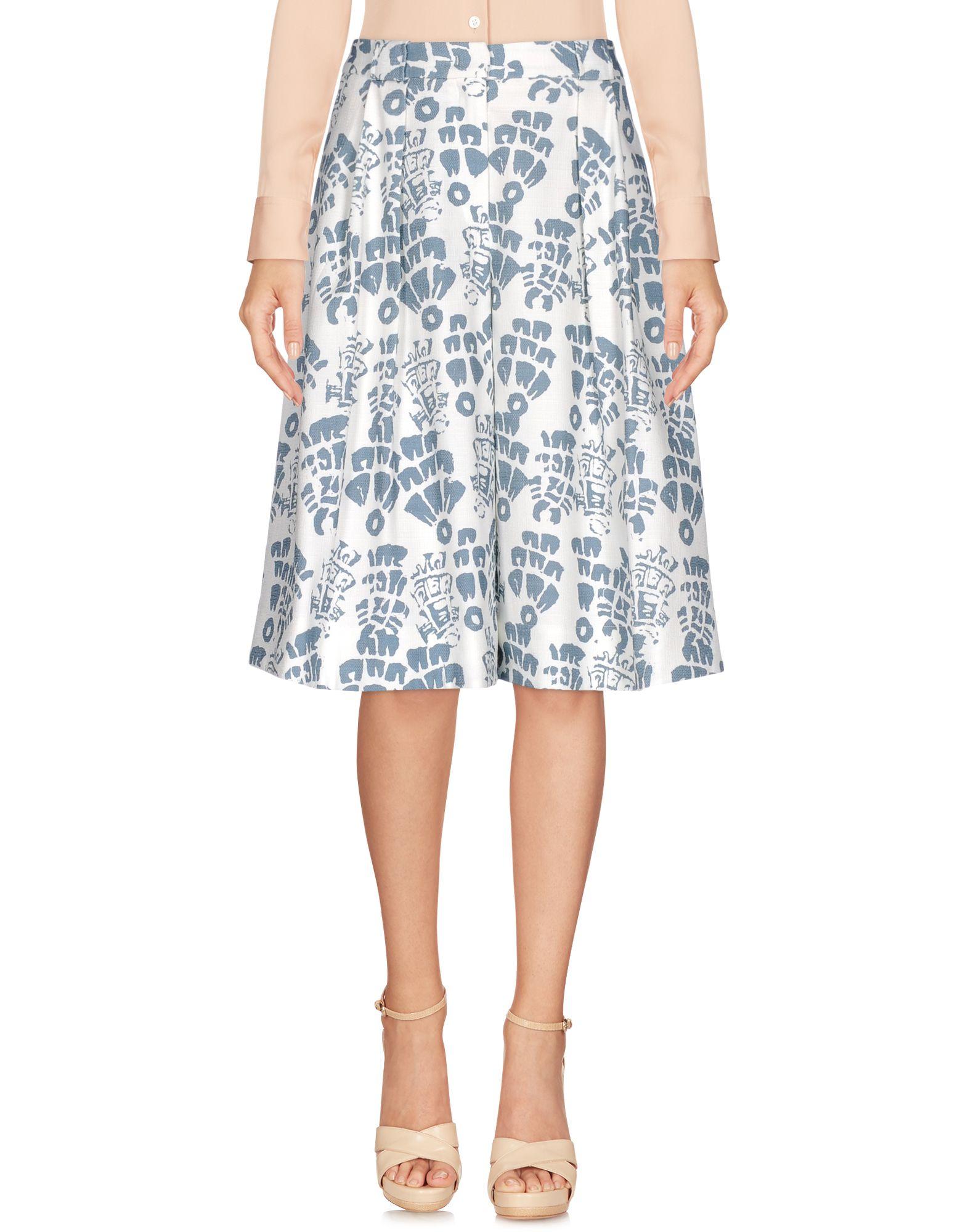 JIL SANDER NAVY Damen Knielanger Rock Farbe Weiß Größe 3 jetztbilligerkaufen