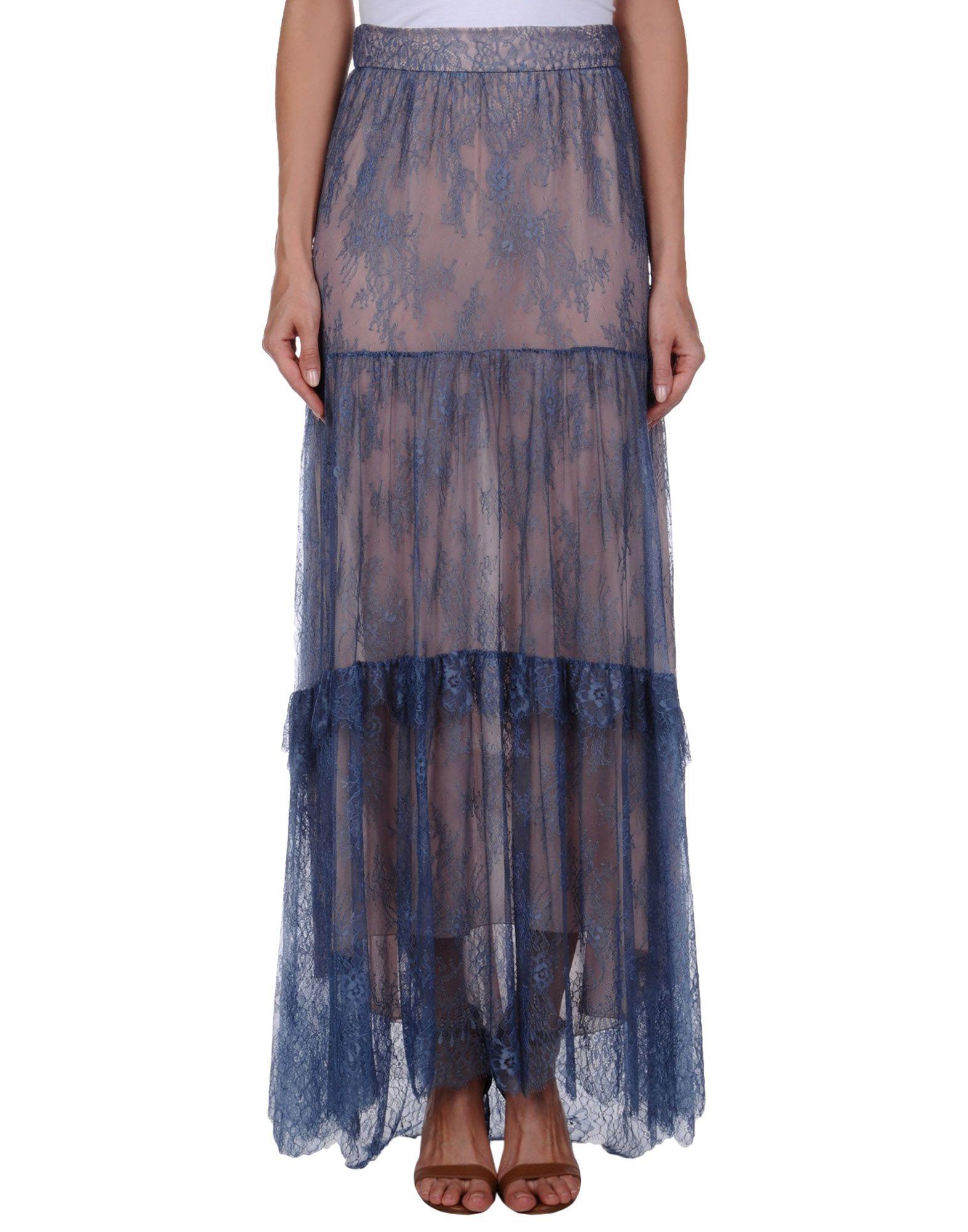 PHILOSOPHY di LORENZO SERAFINI Damen Maxirock Farbe Taubenblau Größe 6 jetztbilligerkaufen