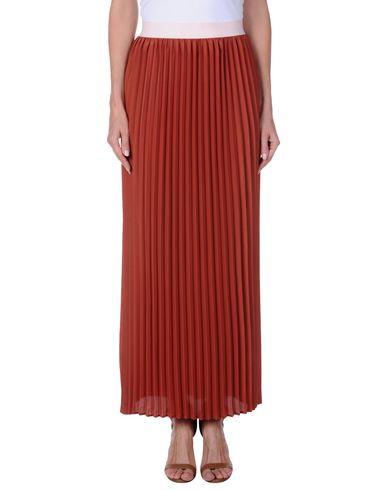 TWIN-SET LINGERIE Damen Maxirock Rostrot Größe L 100% Polyester