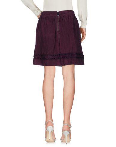 Фото 2 - Мини-юбка цвет баклажанный