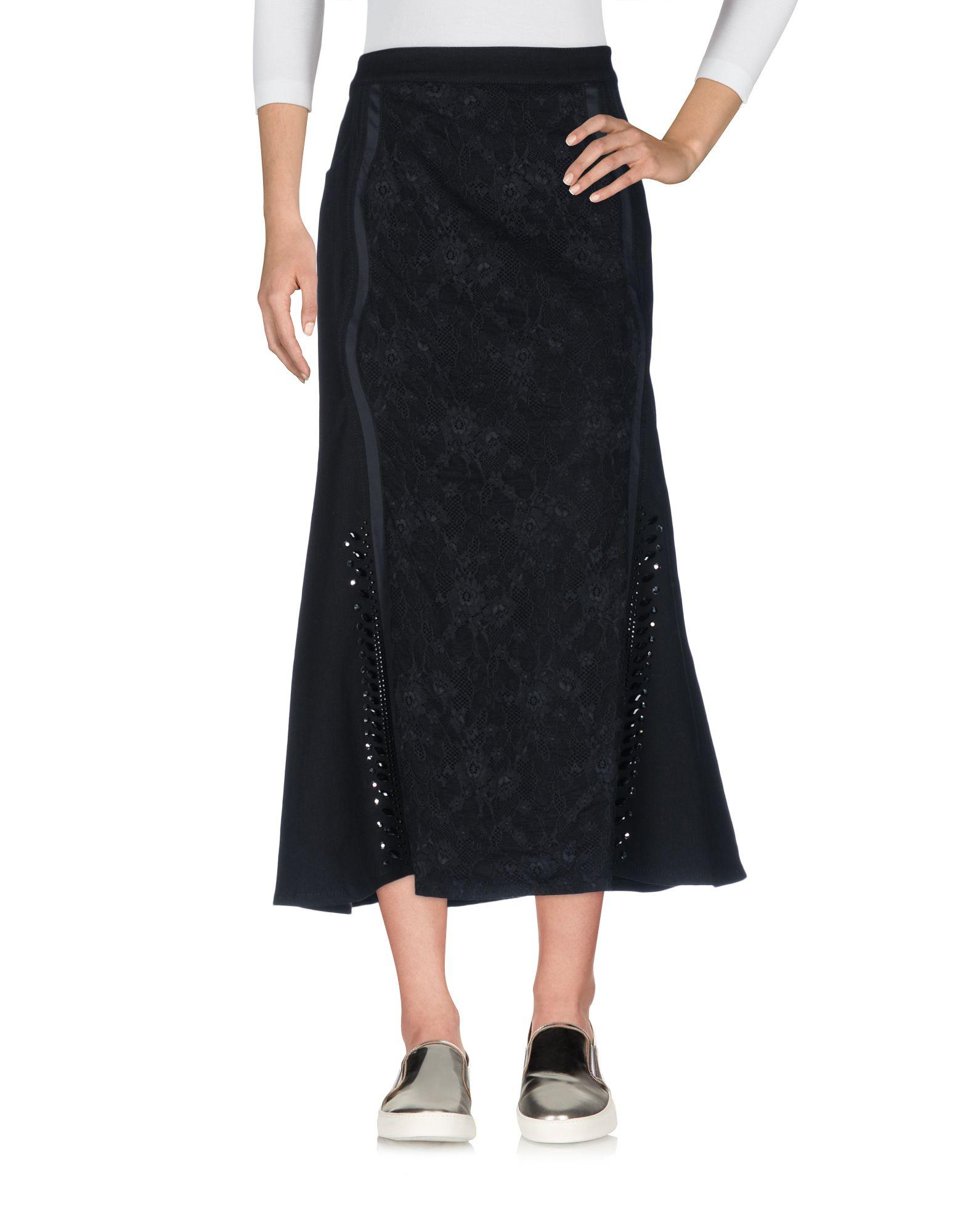 цена ELISA FANTI Джинсовая юбка онлайн в 2017 году
