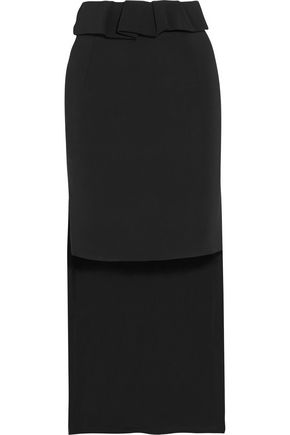PREEN by THORNTON BREGAZZI Vera asymmetric stretch-crepe skirt