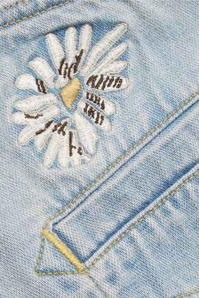 M.I.H JEANS Embroidered denim mini skirt