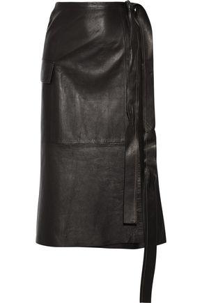 HELMUT LANG Leather wrap skirt